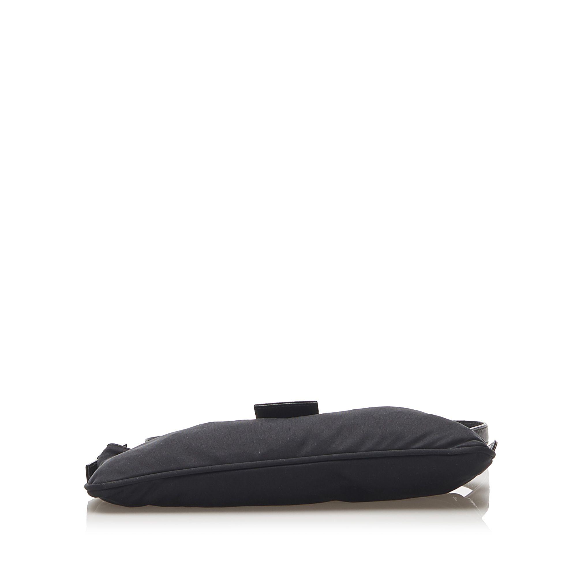 Vintage Fendi Cotton Crossbody Bag Black