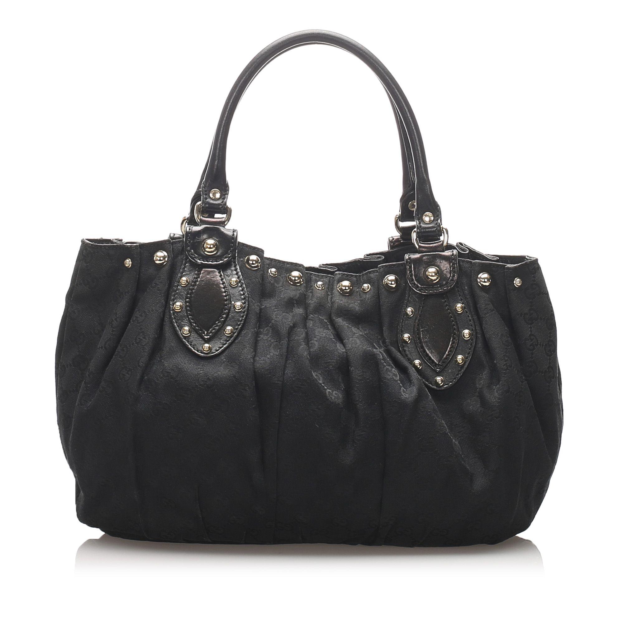 Vintage Gucci GG Canvas Pelham Bag Black