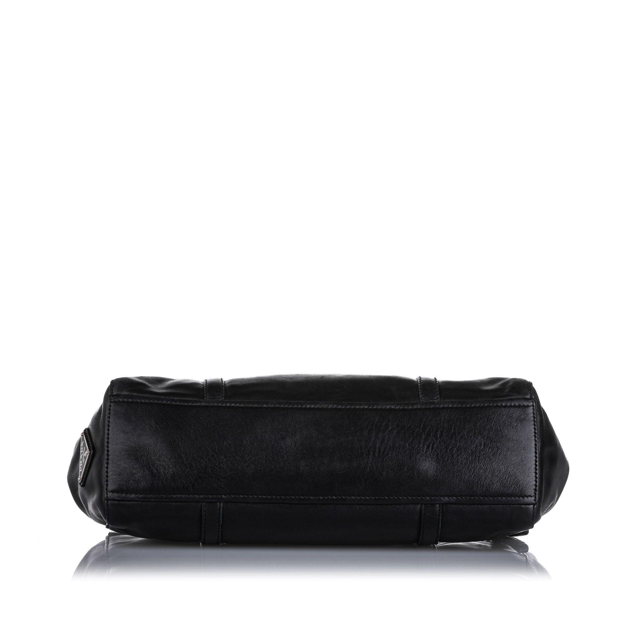 Vintage Prada Easy Leather Shoulder Bag Black