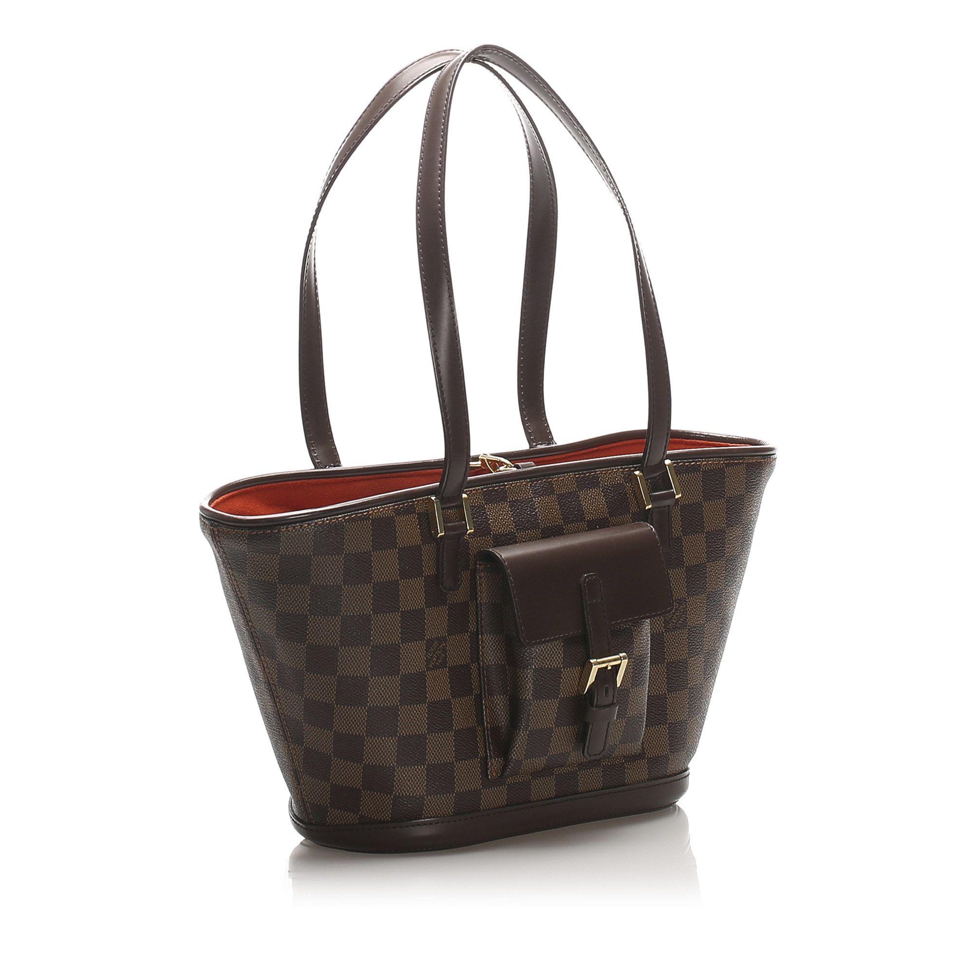 Vintage Louis Vuitton Damier Ebene Manosque PM Brown