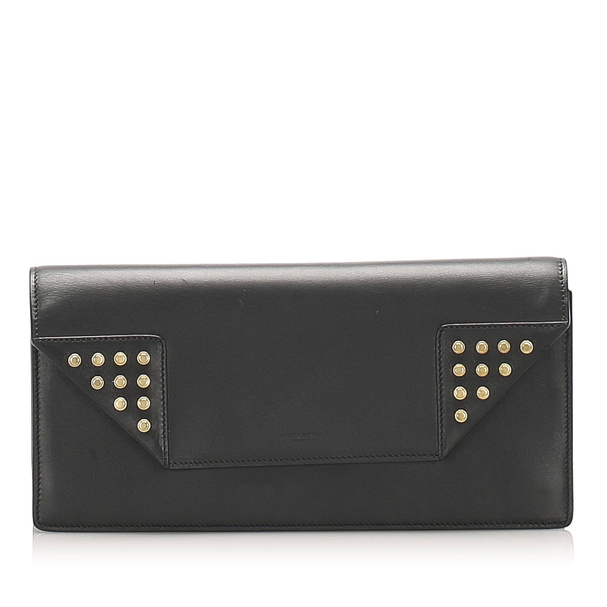 Vintage YSL Betty Leather Clutch Bag Black