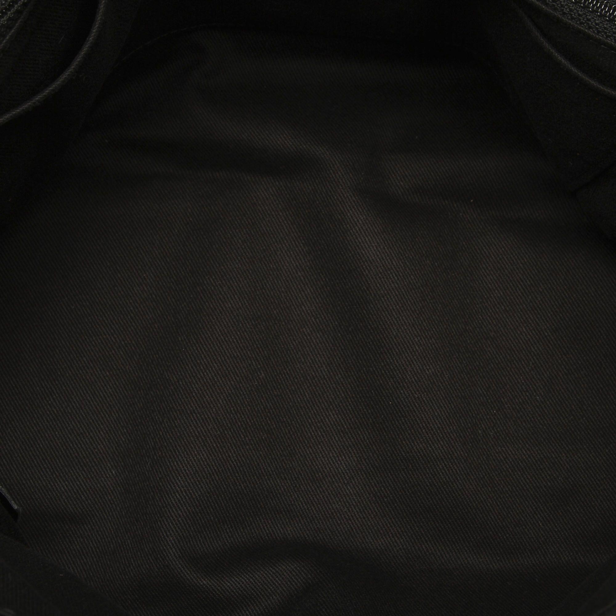 Vintage Chanel Wild Stitch Suede Flap Bag Black