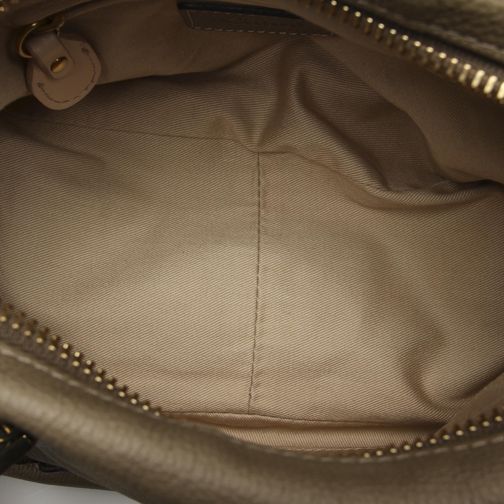 Vintage Chloe Small Paraty Leather Satchel Gray