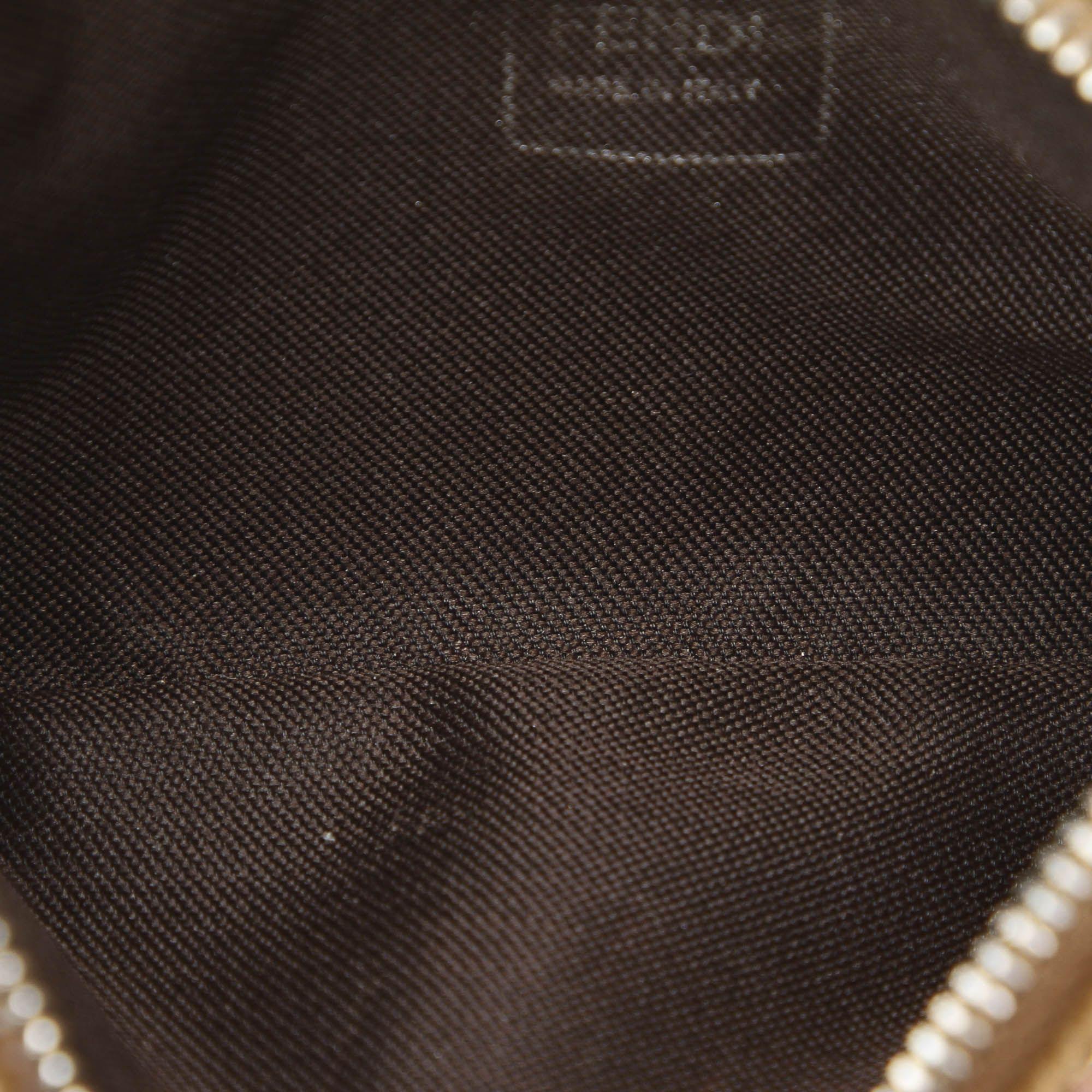 Vintage Fendi Corduroy Coin Pouch Brown