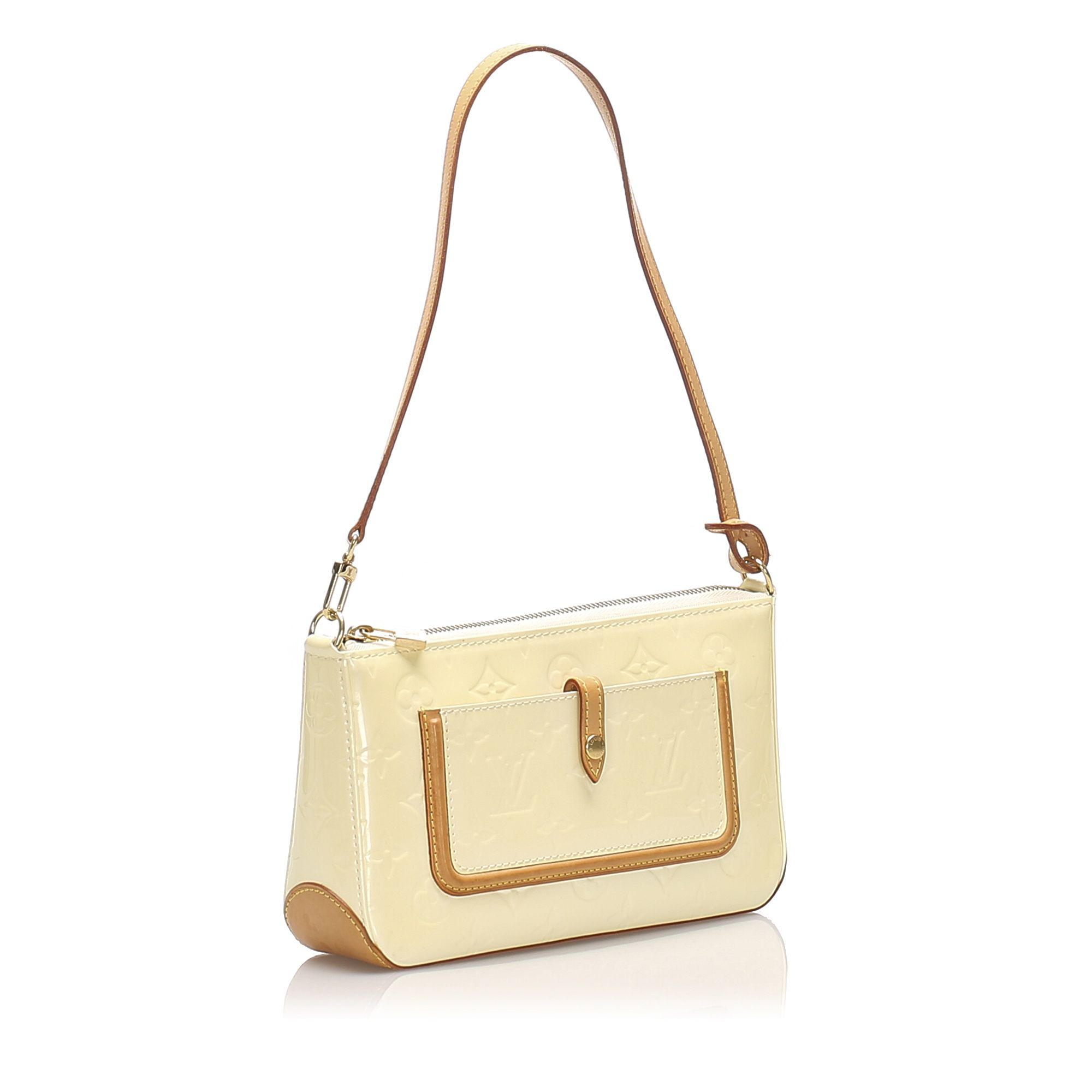 Vintage Louis Vuitton Vernis Mallory White