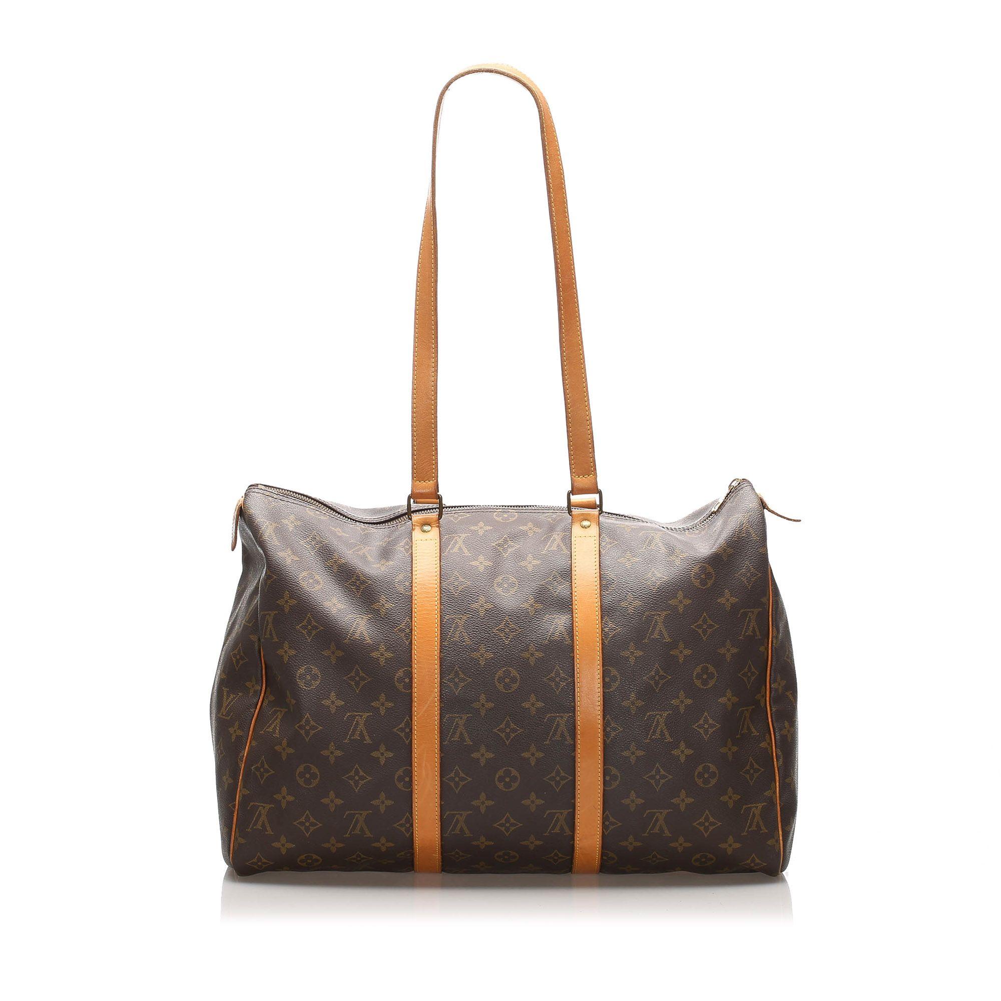 Vintage Louis Vuitton Monogram Sac Flanerie 45 Brown