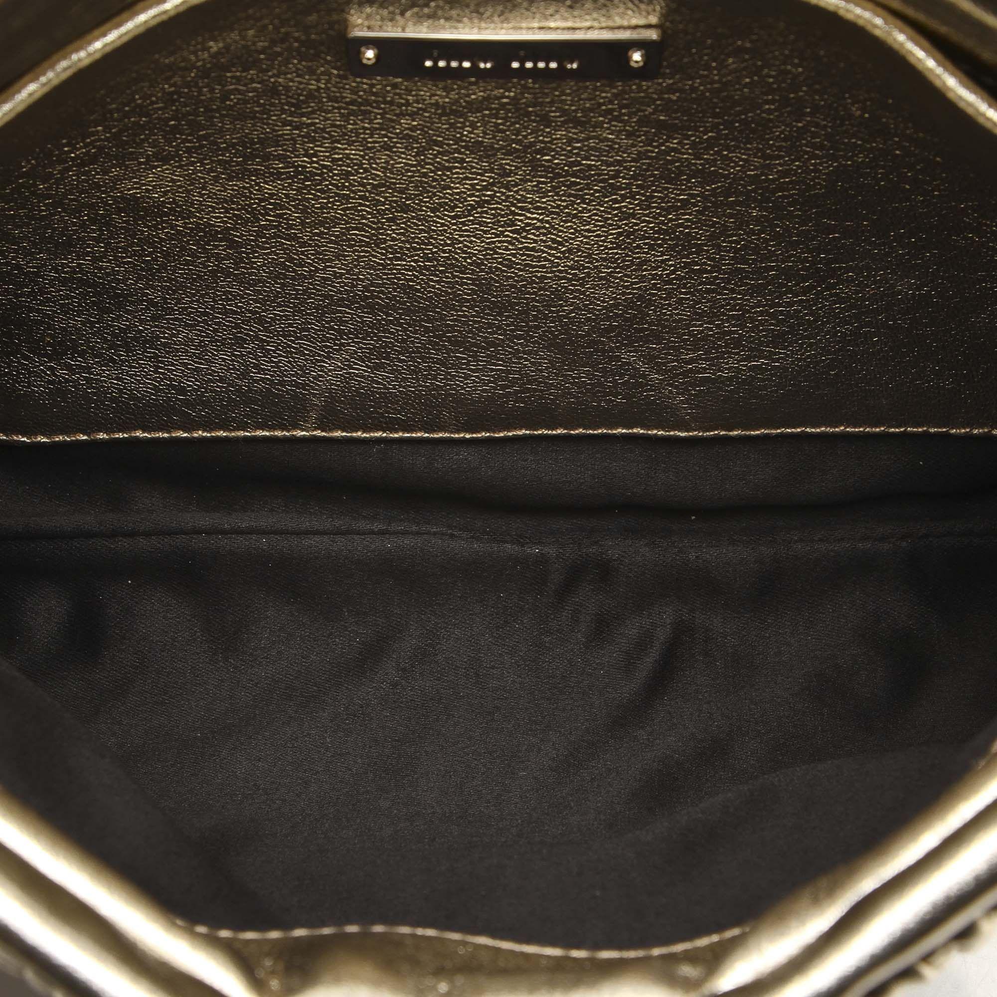 Vintage Miu Miu Matelasse Leather Satchel Gold