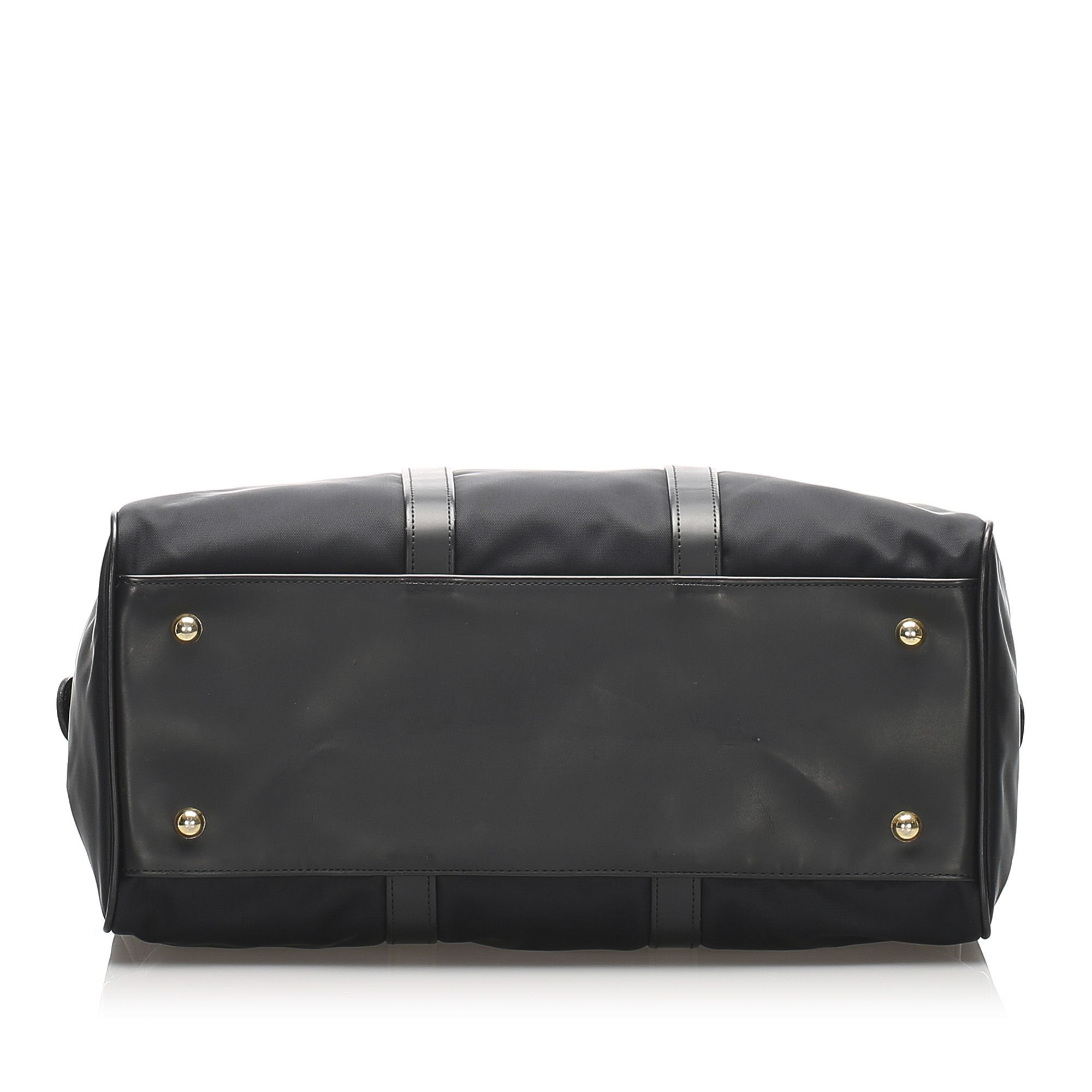 Vintage Valentino Nylon Boston Bag Black