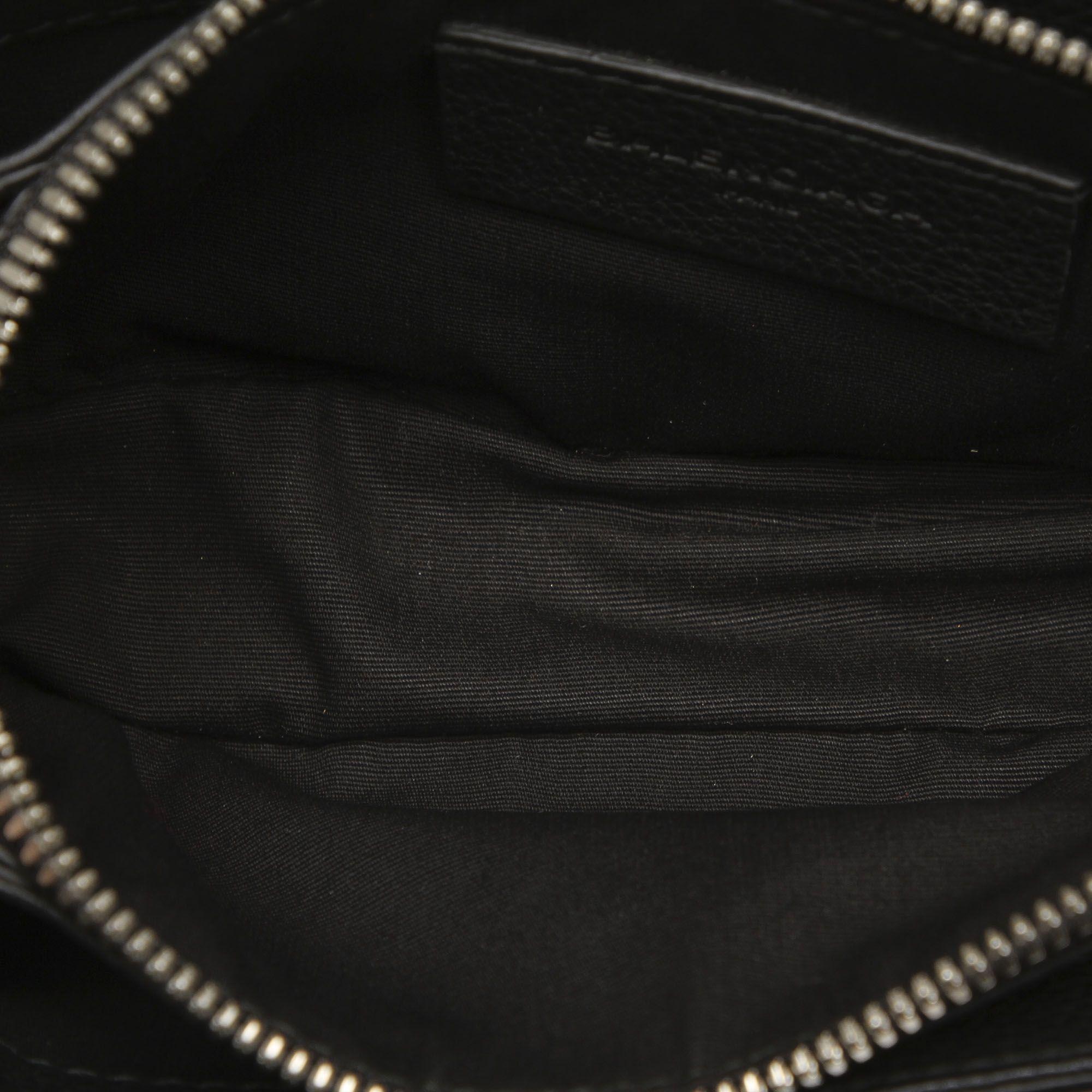 Vintage Balenciaga Leather Crossbody Bag Black