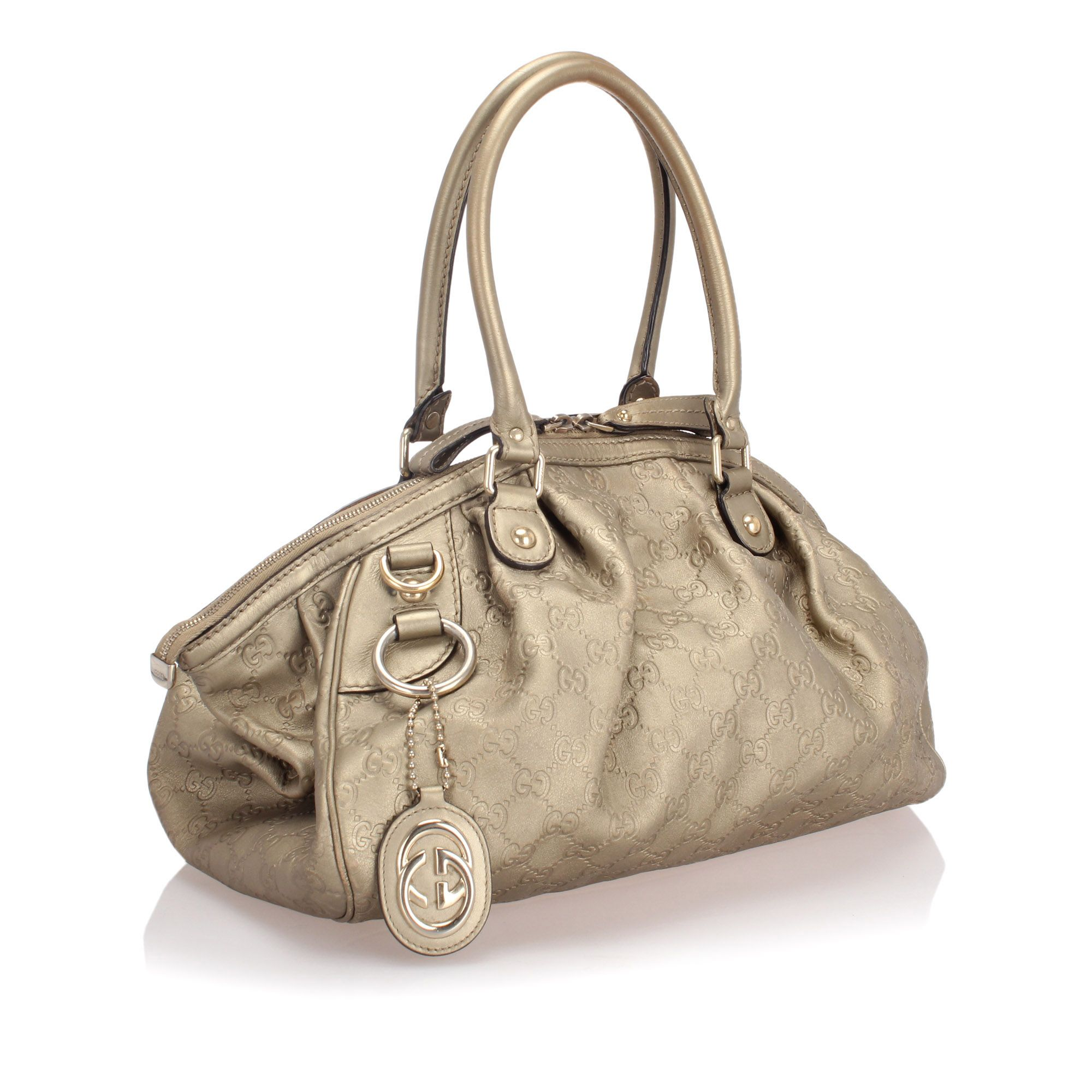 Vintage Gucci Guccissima Sukey Satchel Gold