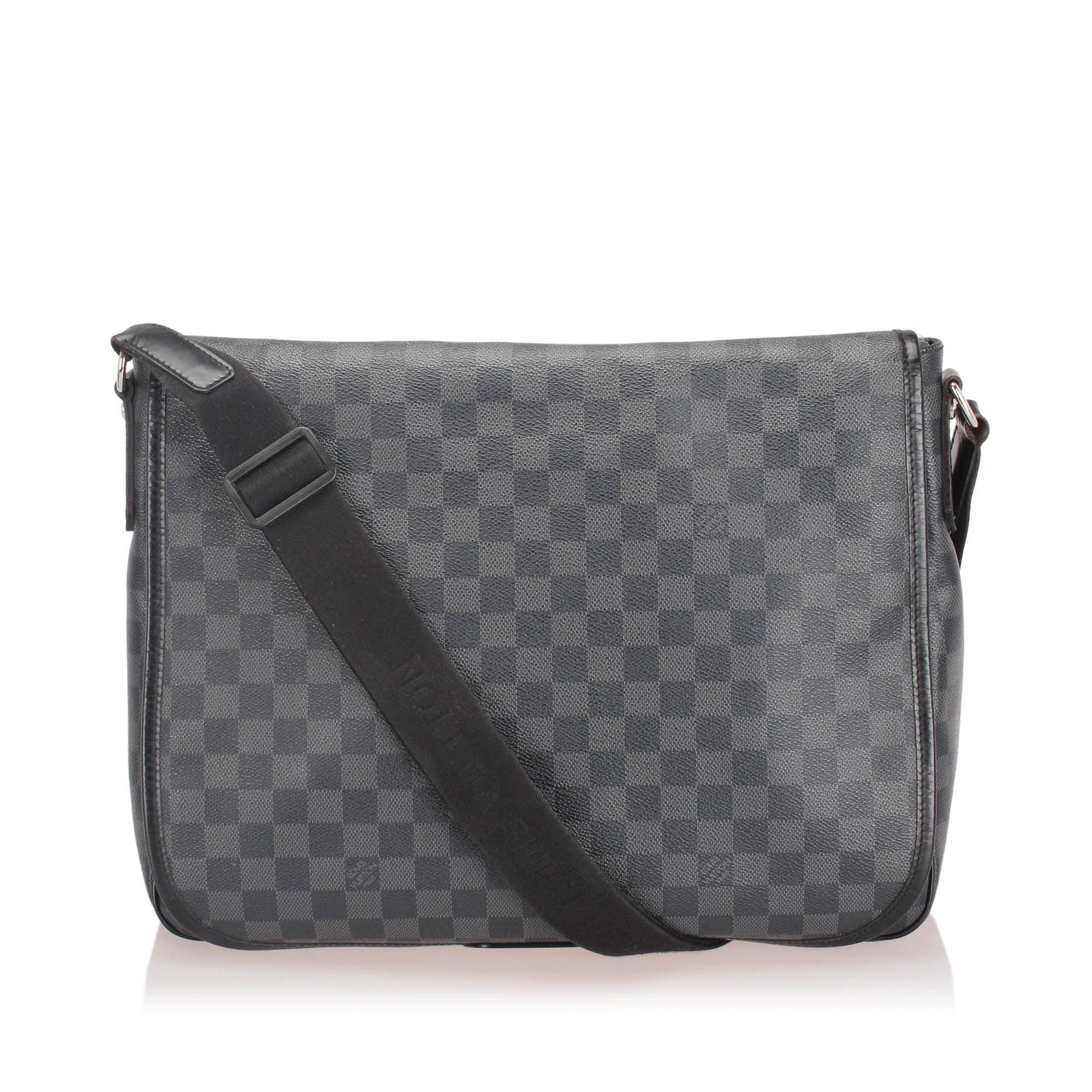 Vintage Louis Vuitton Damier Graphite Daniel GM Black