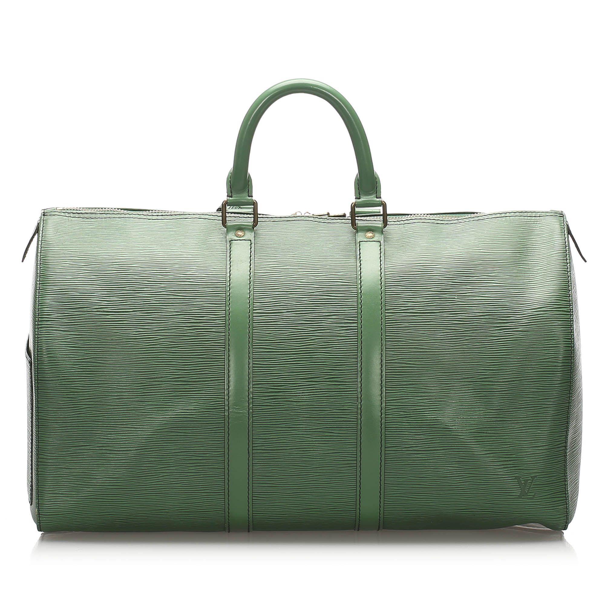 Vintage Louis Vuitton Epi Keepall 50 Green