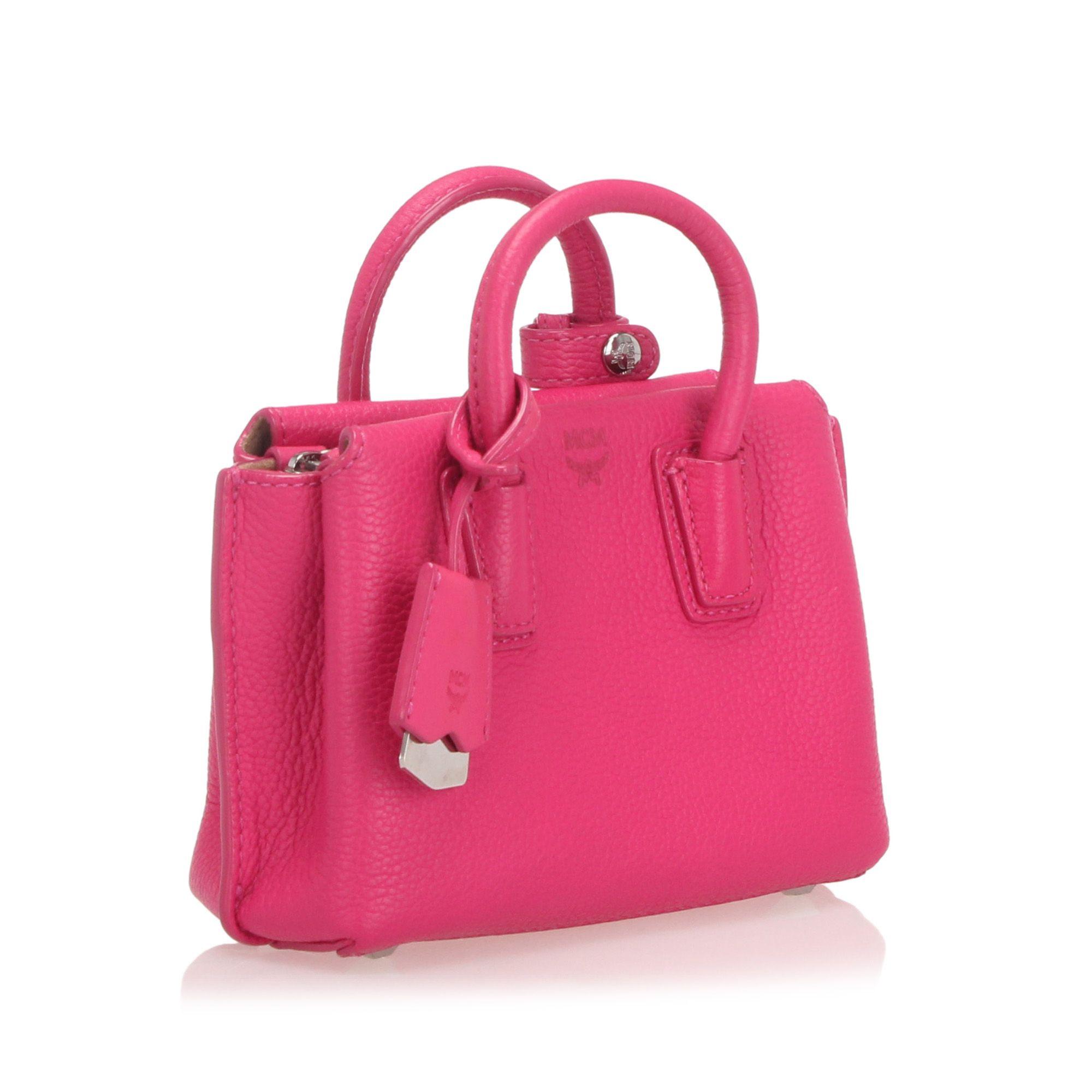 Vintage MCM Mini Milla Leather Satchel Pink