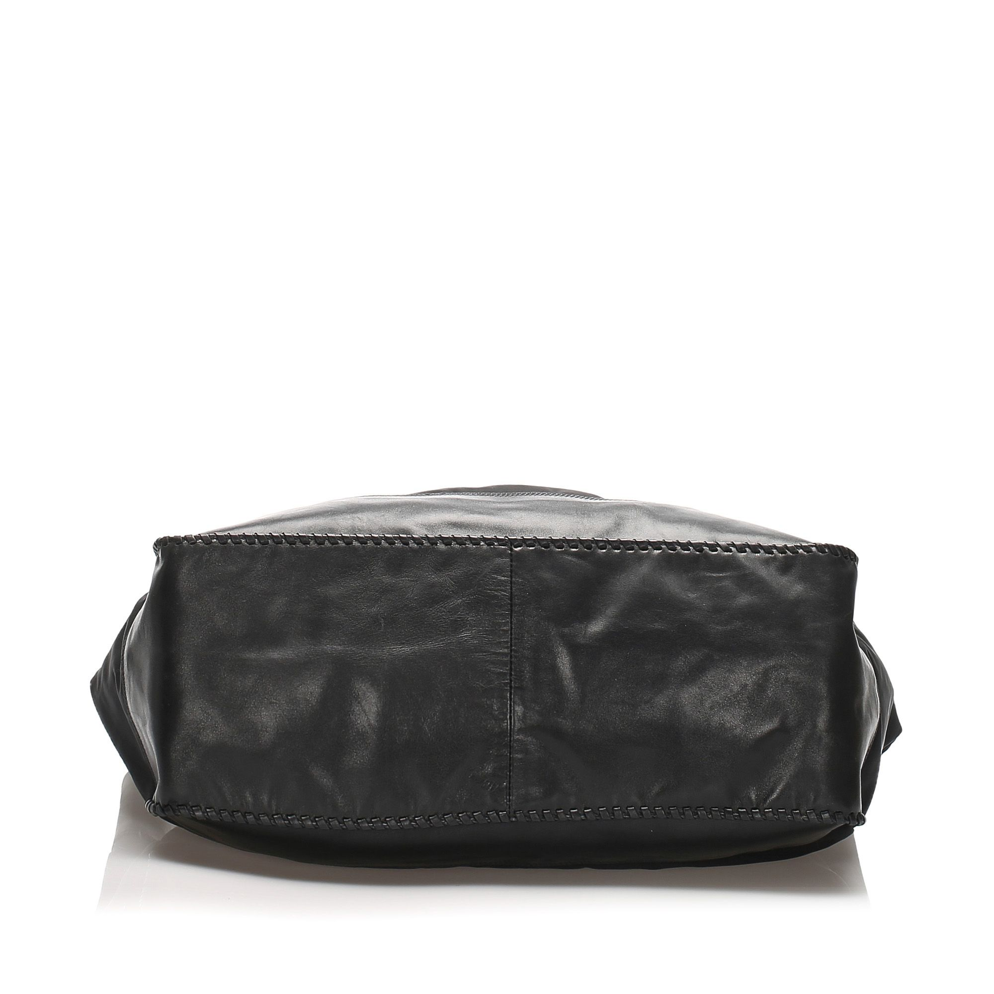 Vintage Prada Tessuto Drawstring Shoulder Bag Black