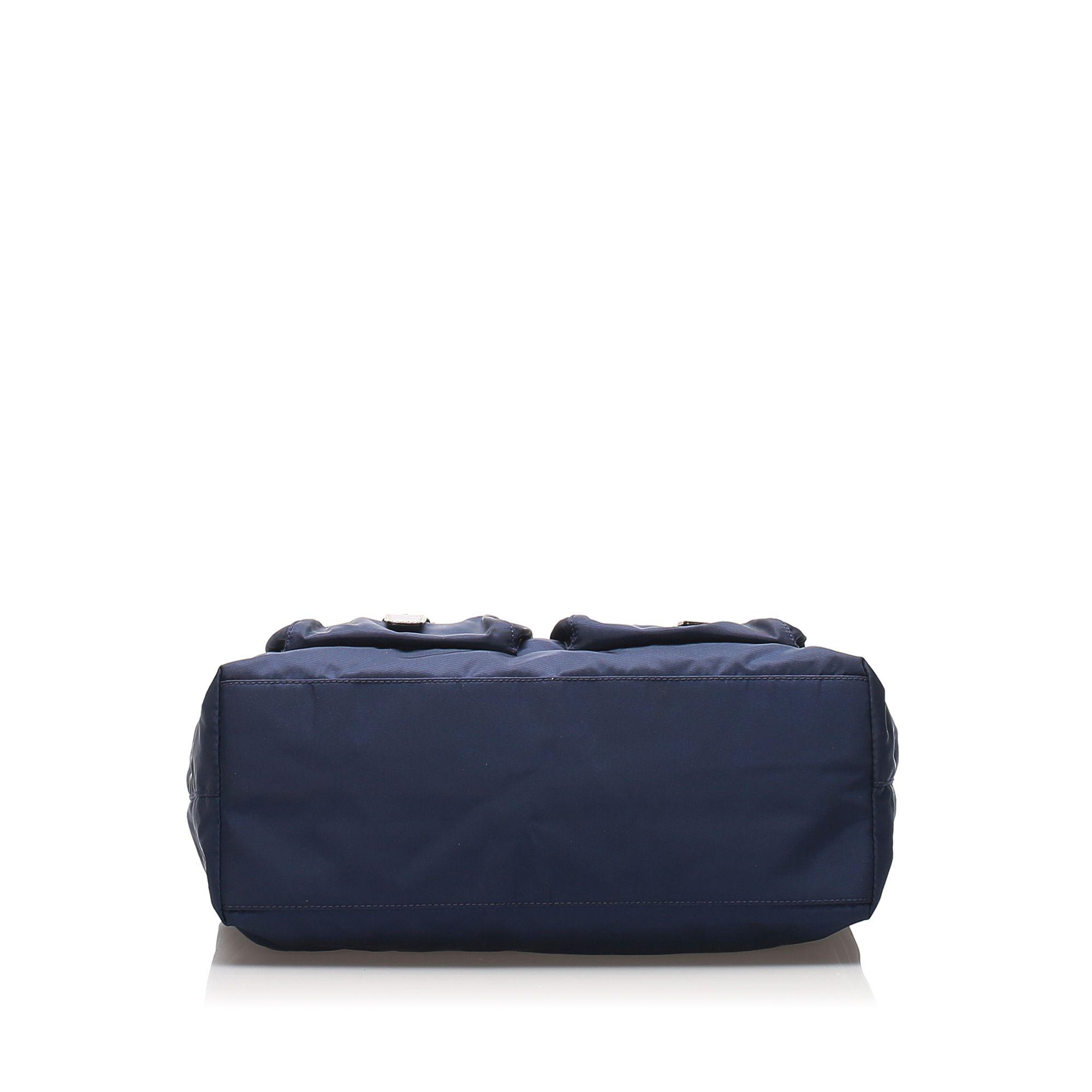 Vintage Prada Tessuto Shoulder Bag Blue