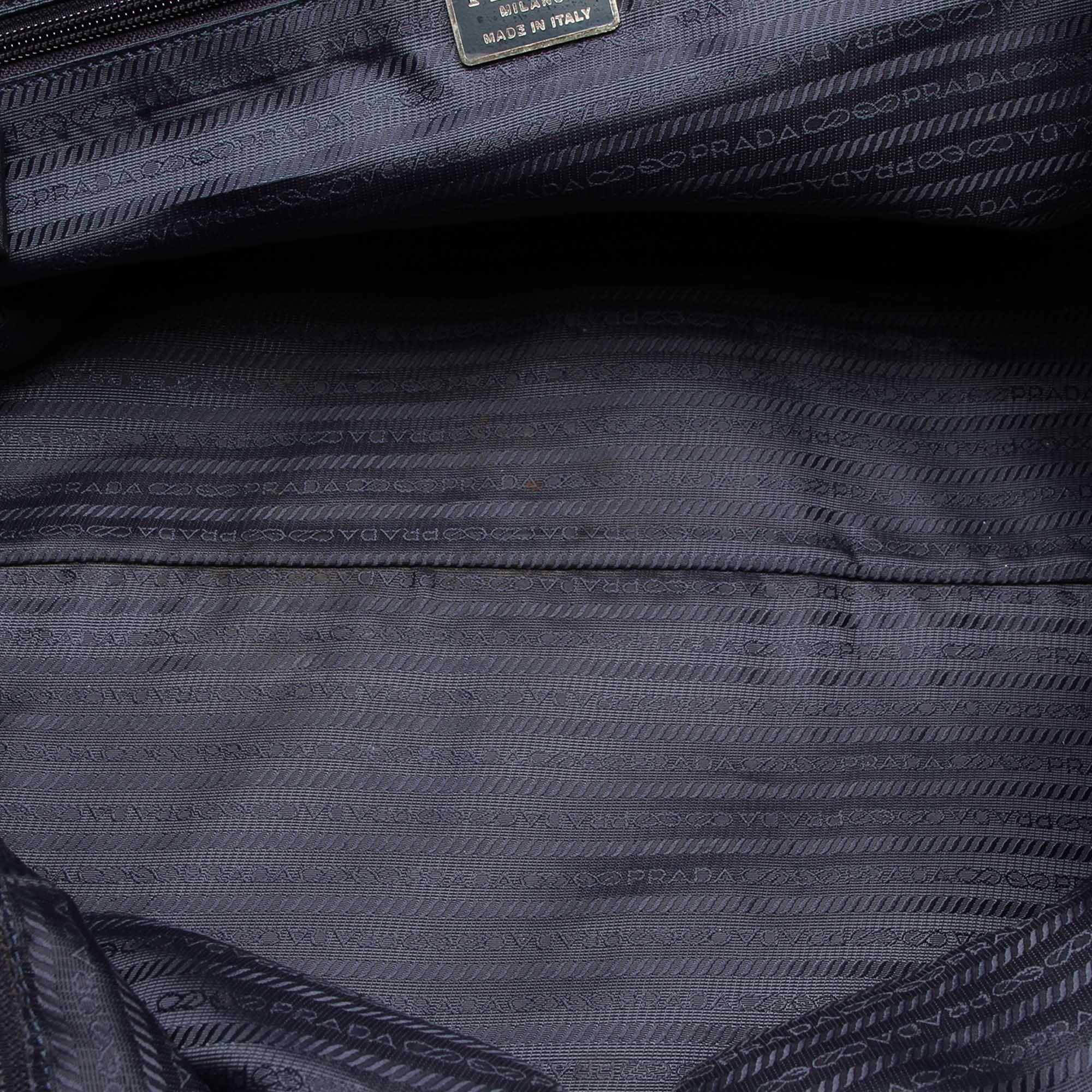 Vintage Prada Tessuto Travel Bag Blue