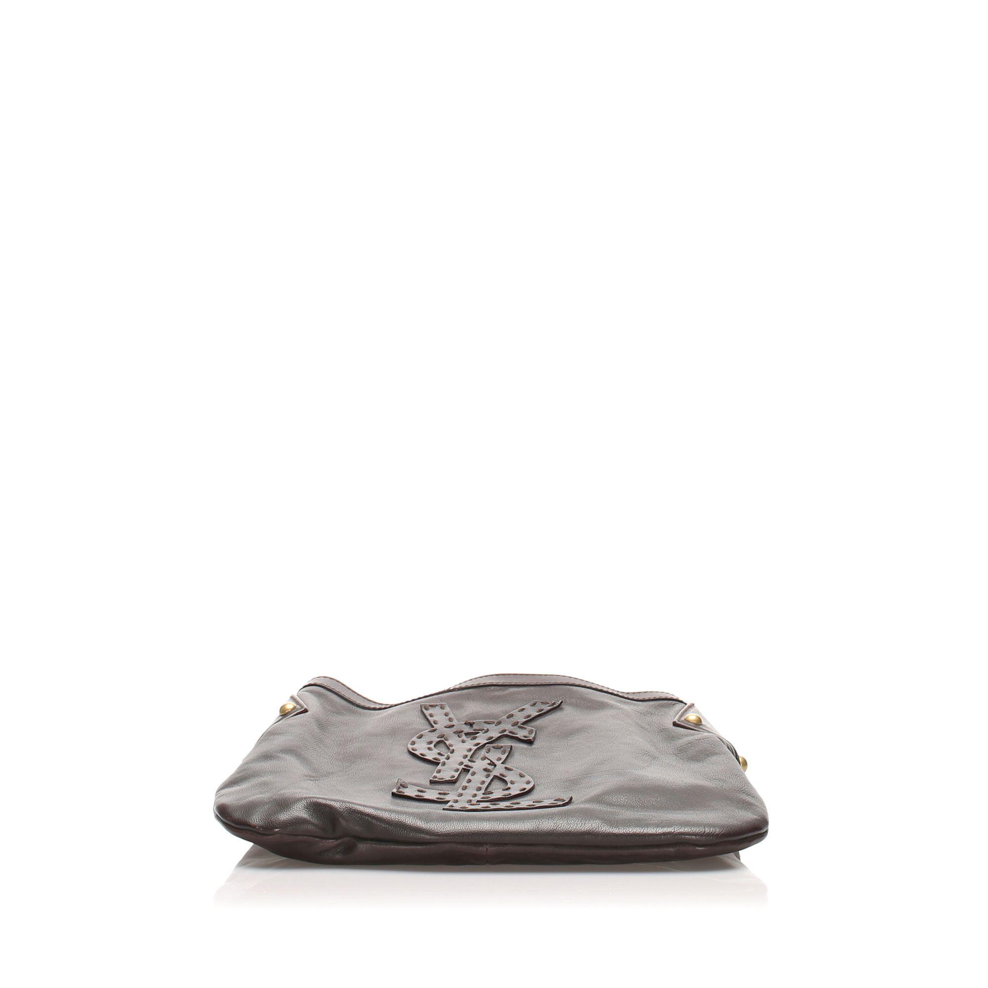 Vintage YSL Kahala Leather Shoulder Bag Brown