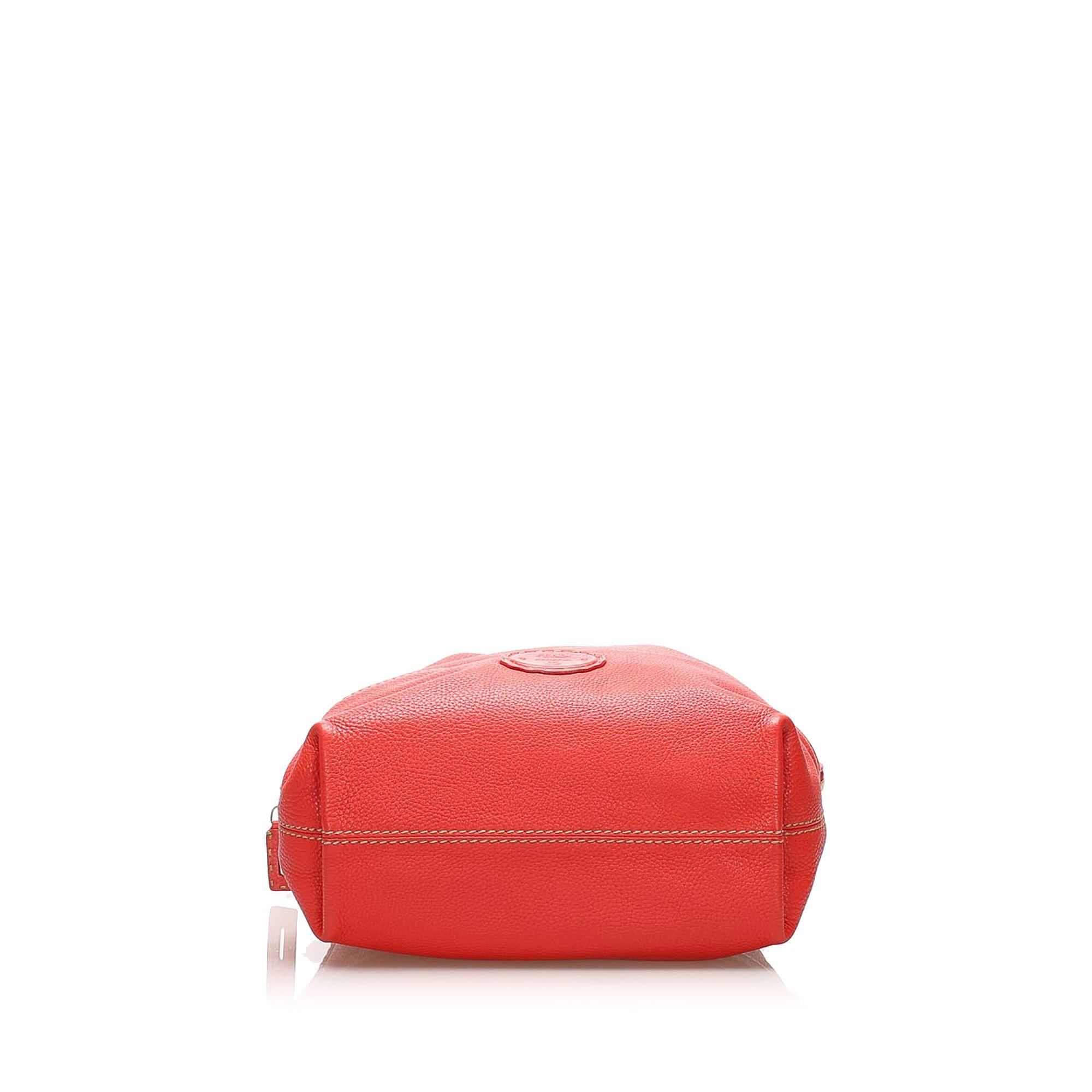 Vintage Fendi Selleria 2Bag Red
