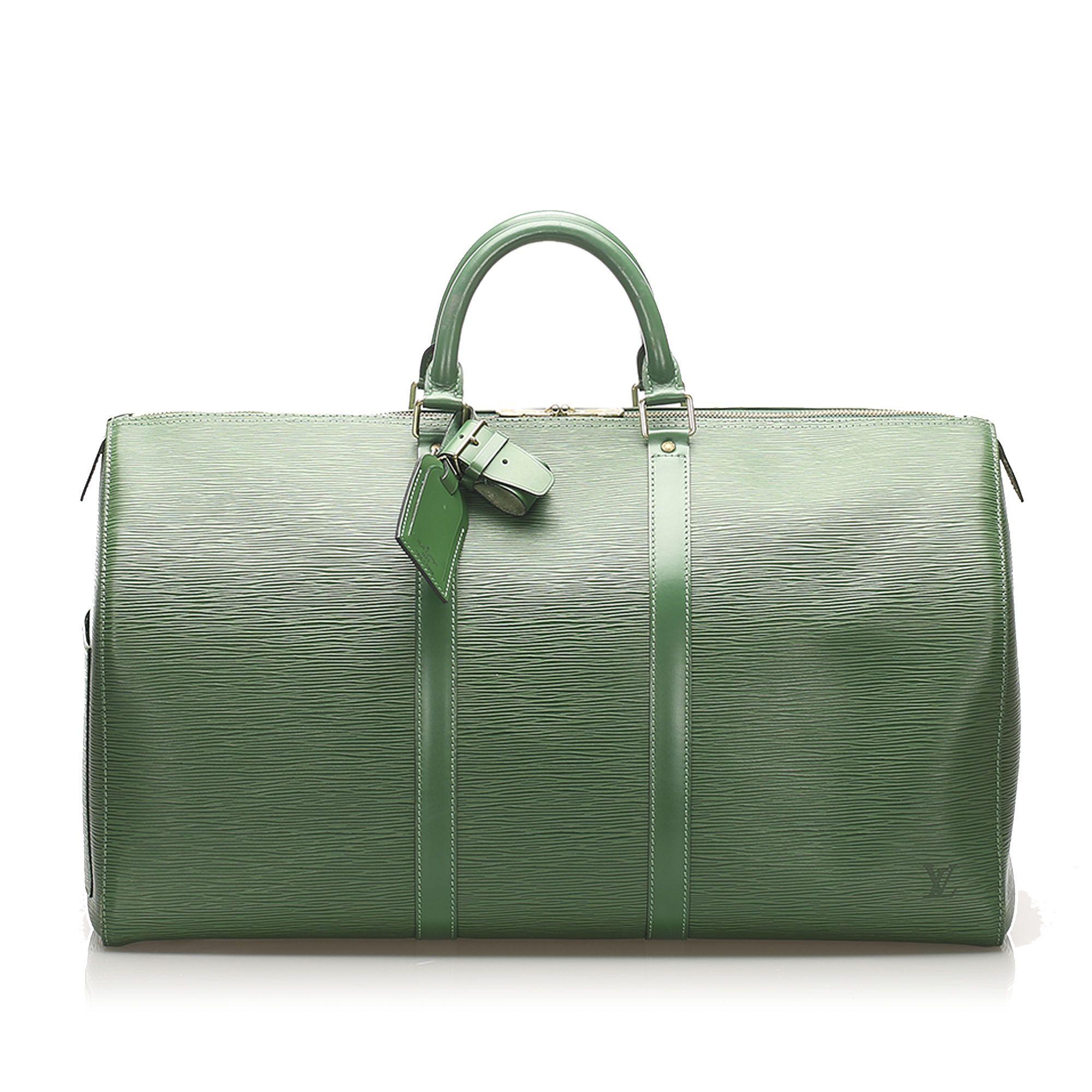 Vintage Louis Vuitton Epi Keepall 55 Green