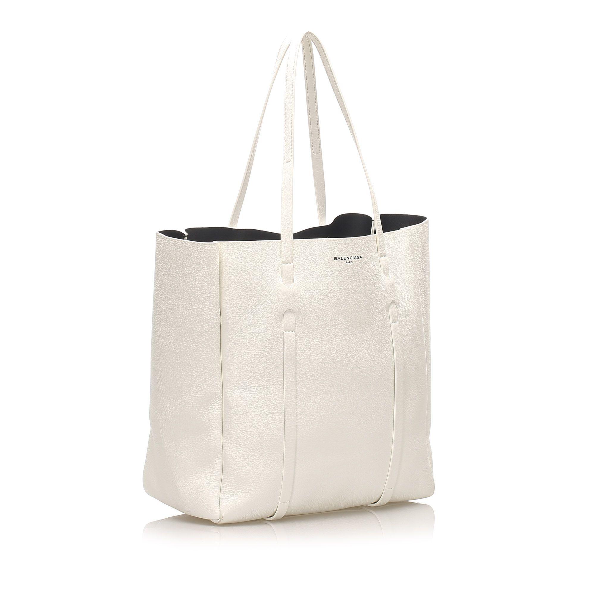Vintage Balenciaga S Everyday Leather Tote Bag White