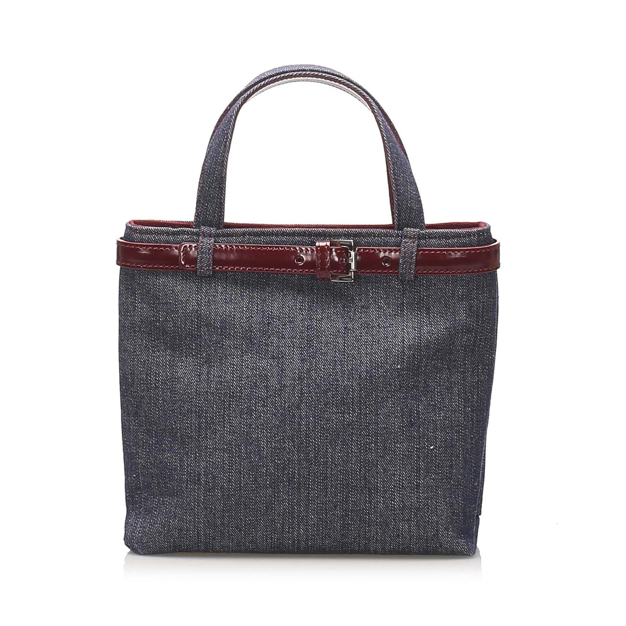Vintage Burberry Denim Handbag Blue