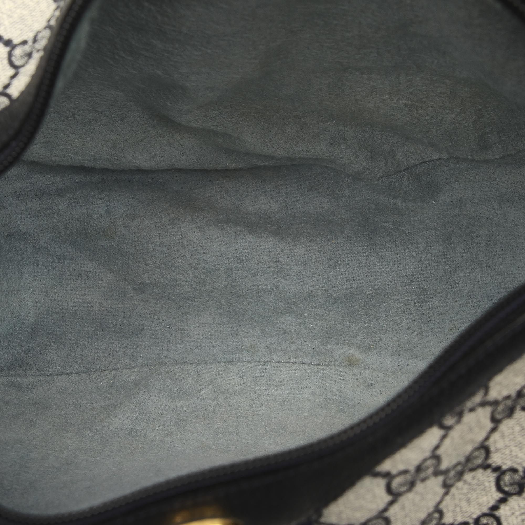 Vintage Gucci GG Canvas Web Crossbody Bag Gray