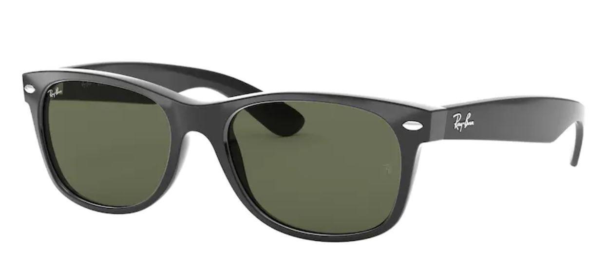 Rayban wayfarer Sunglasses in black with green lens