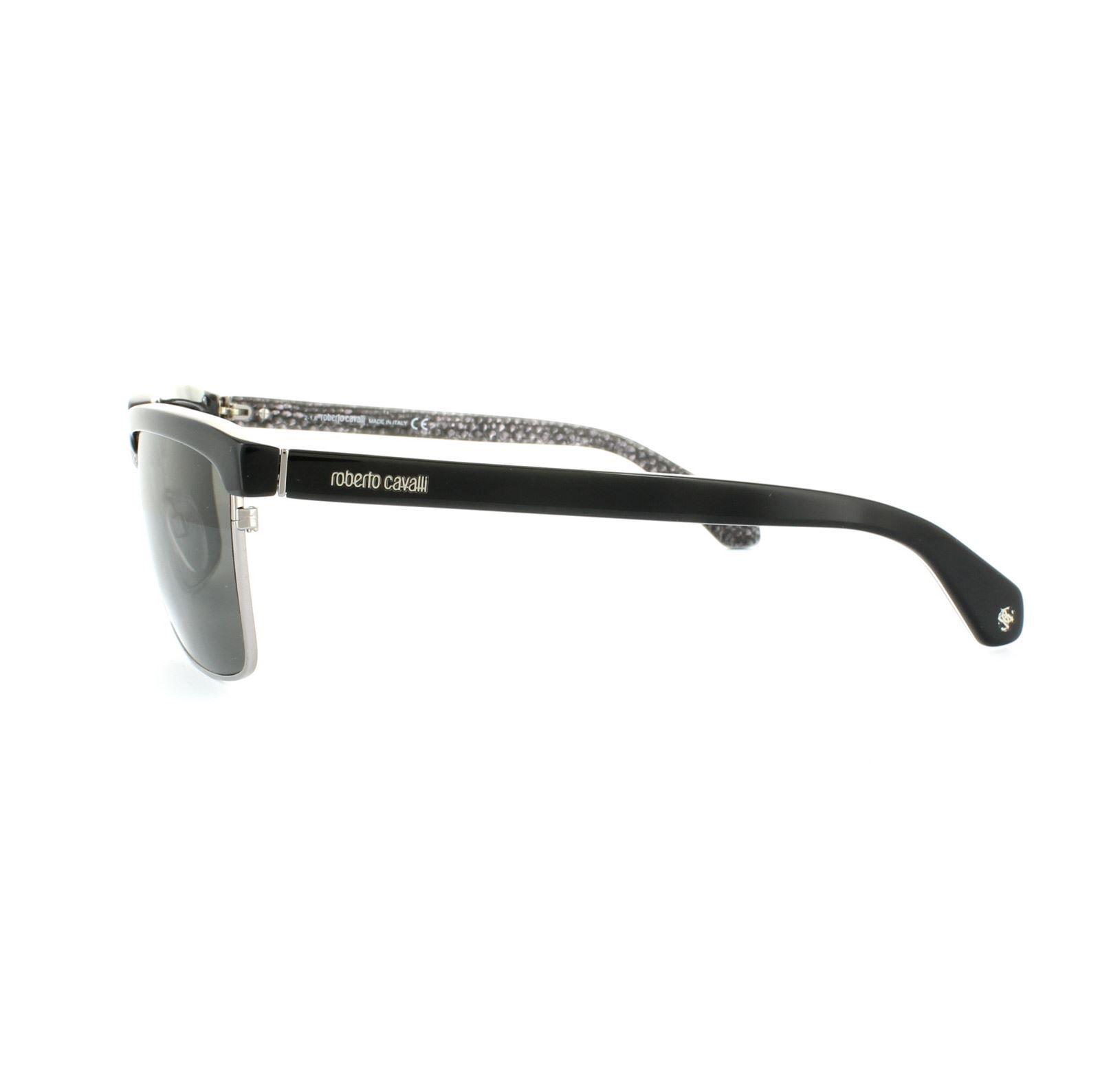 Roberto Cavalli Sunglasses 836S 02V Matt Black Grey Blue