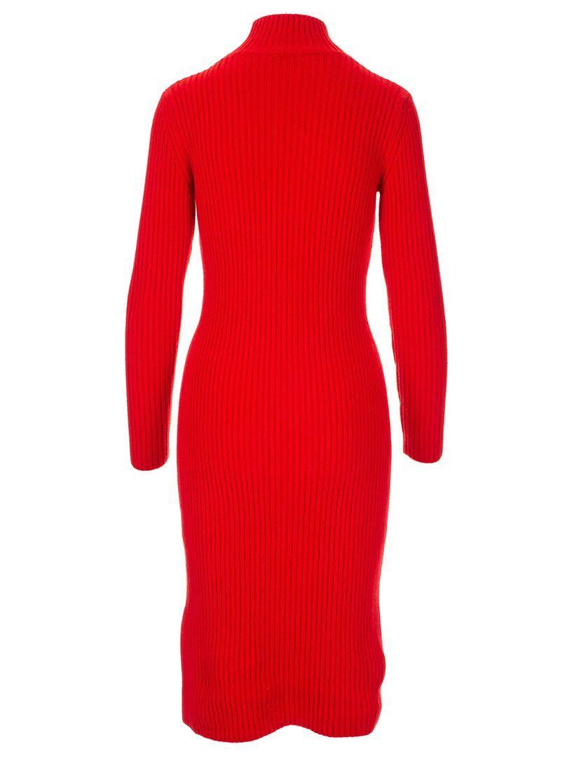 BALENCIAGA WOMEN'S 595087T40936400 RED WOOL DRESS