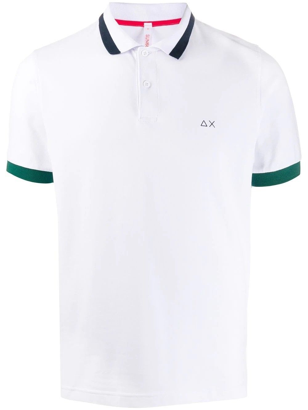 SUN 68 MEN'S A3010701 WHITE COTTON POLO SHIRT
