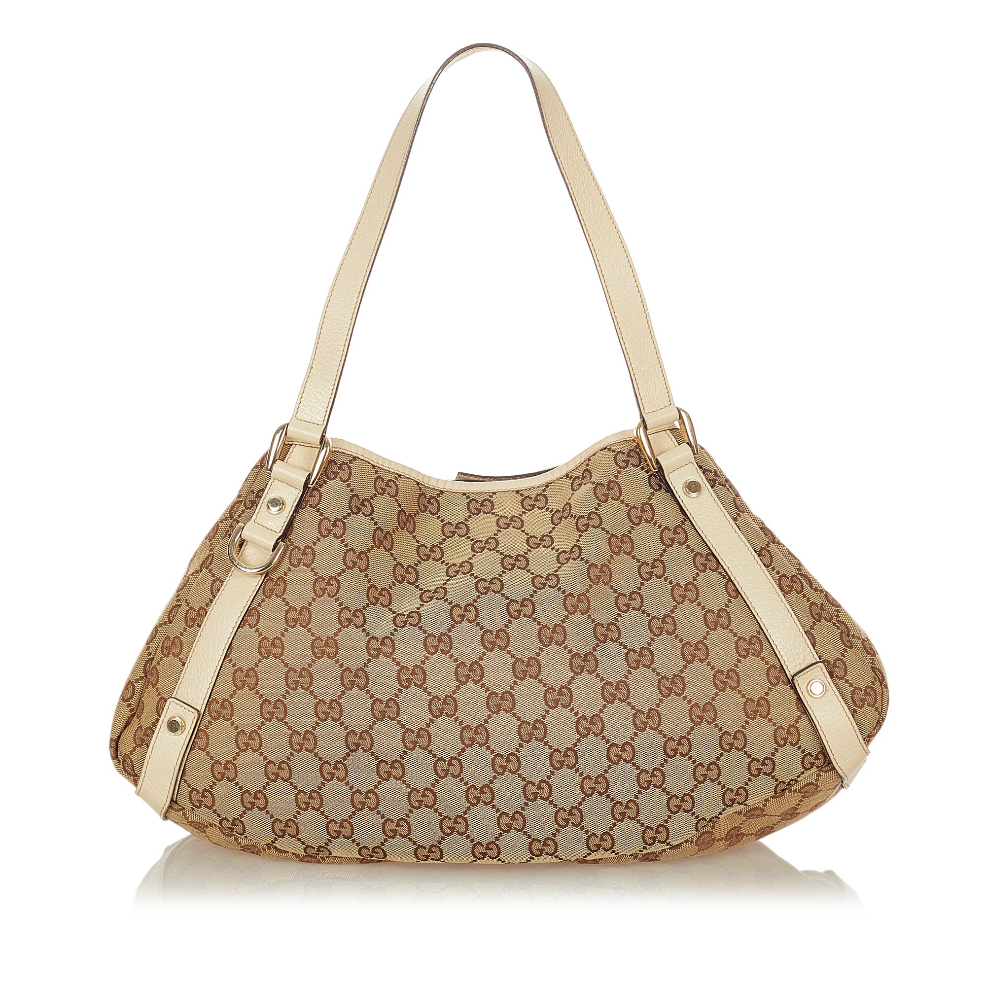 Vintage Gucci GG Canvas Pelham Tote Bag Brown