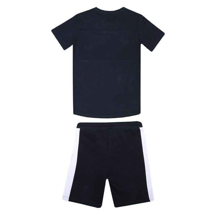 Boys Jack Jones Junior Block T-Shirt & Short Set In Navy