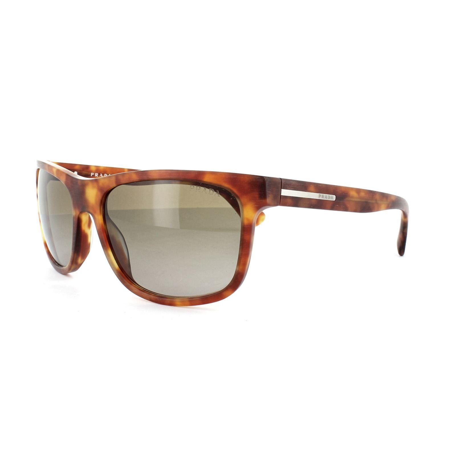 Prada Sunglasses 15RS TWO1X1 Matt Brushed Light Havana Brown Gradient