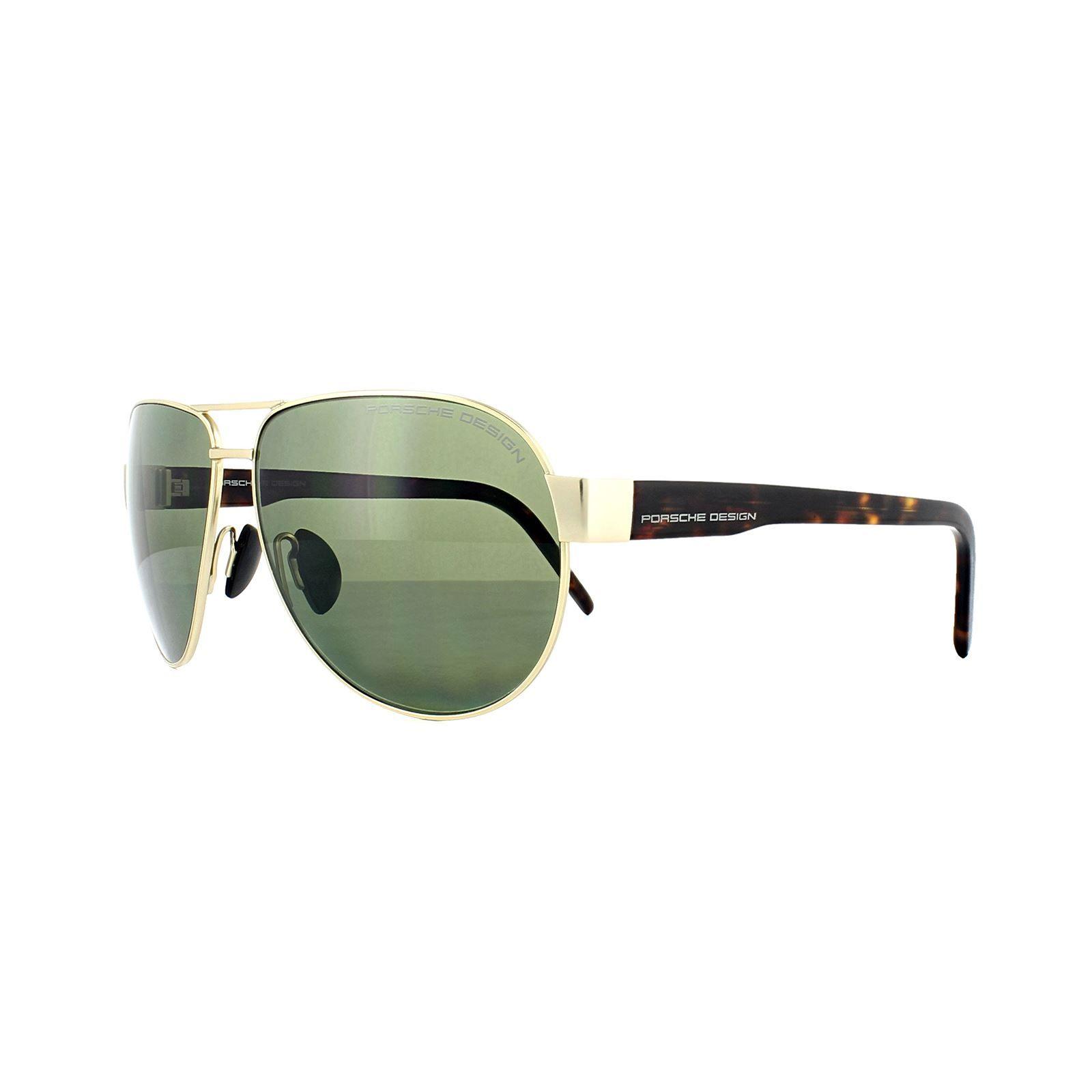 Porsche Design Sunglasses P8632 B V401 Gold Green Polarized