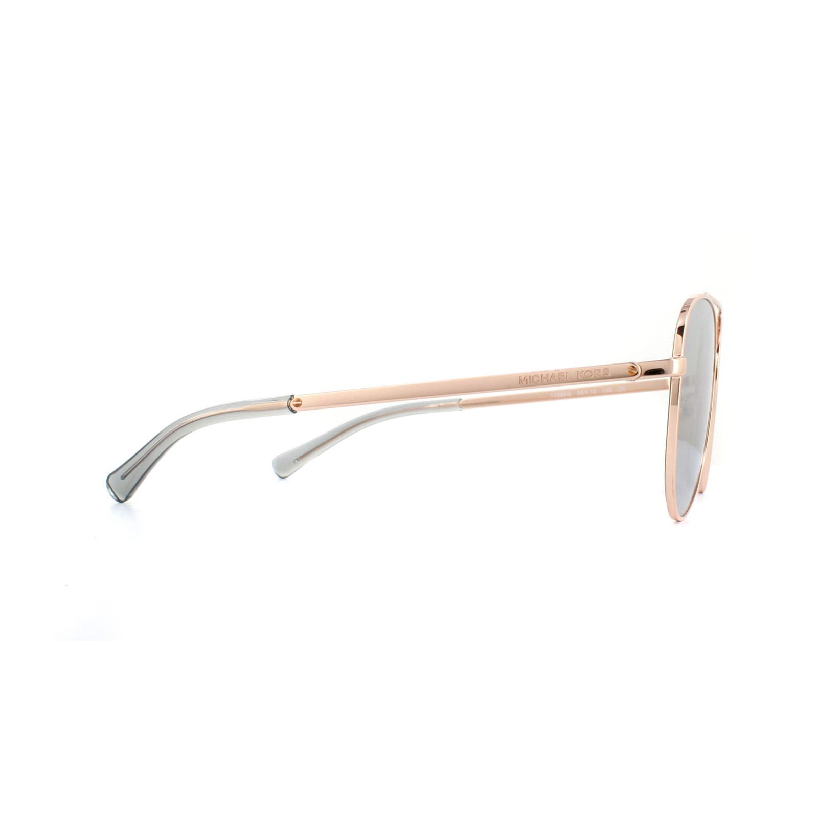 Michael Kors Sunglasses San Diego 1045 11086G Rose Gold Silver Mirror
