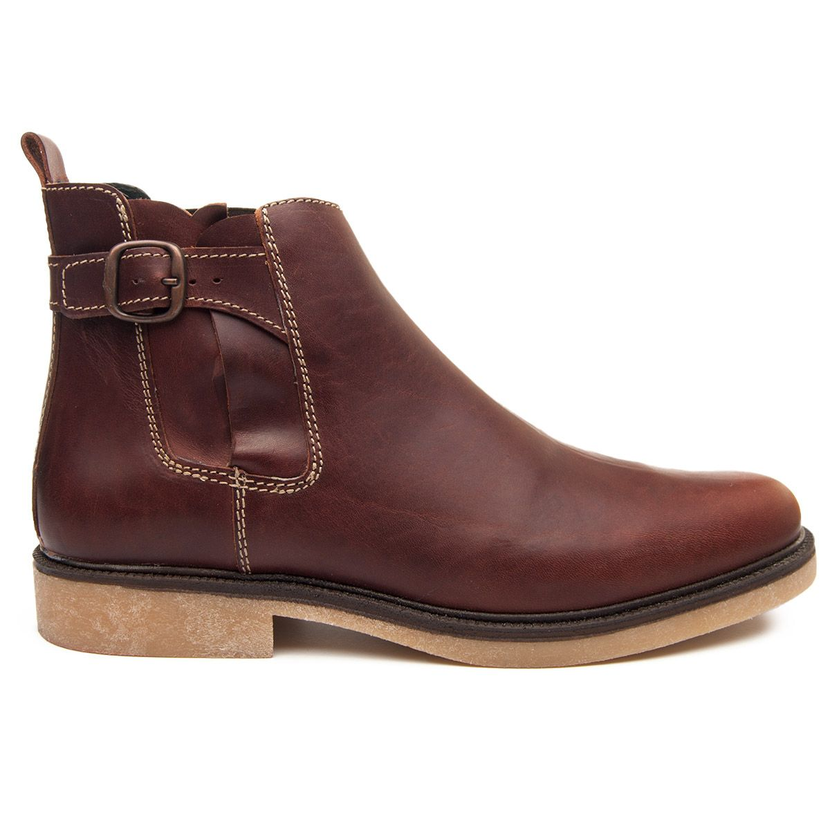 Montevita Side Buckle Ankle Boot in Brown
