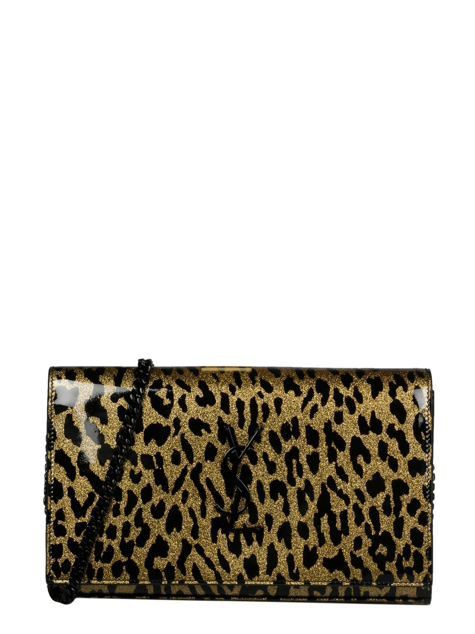 SAINT LAURENT WOMEN'S 3778291KG2U8063 GOLD PLASTIC SHOULDER BAG