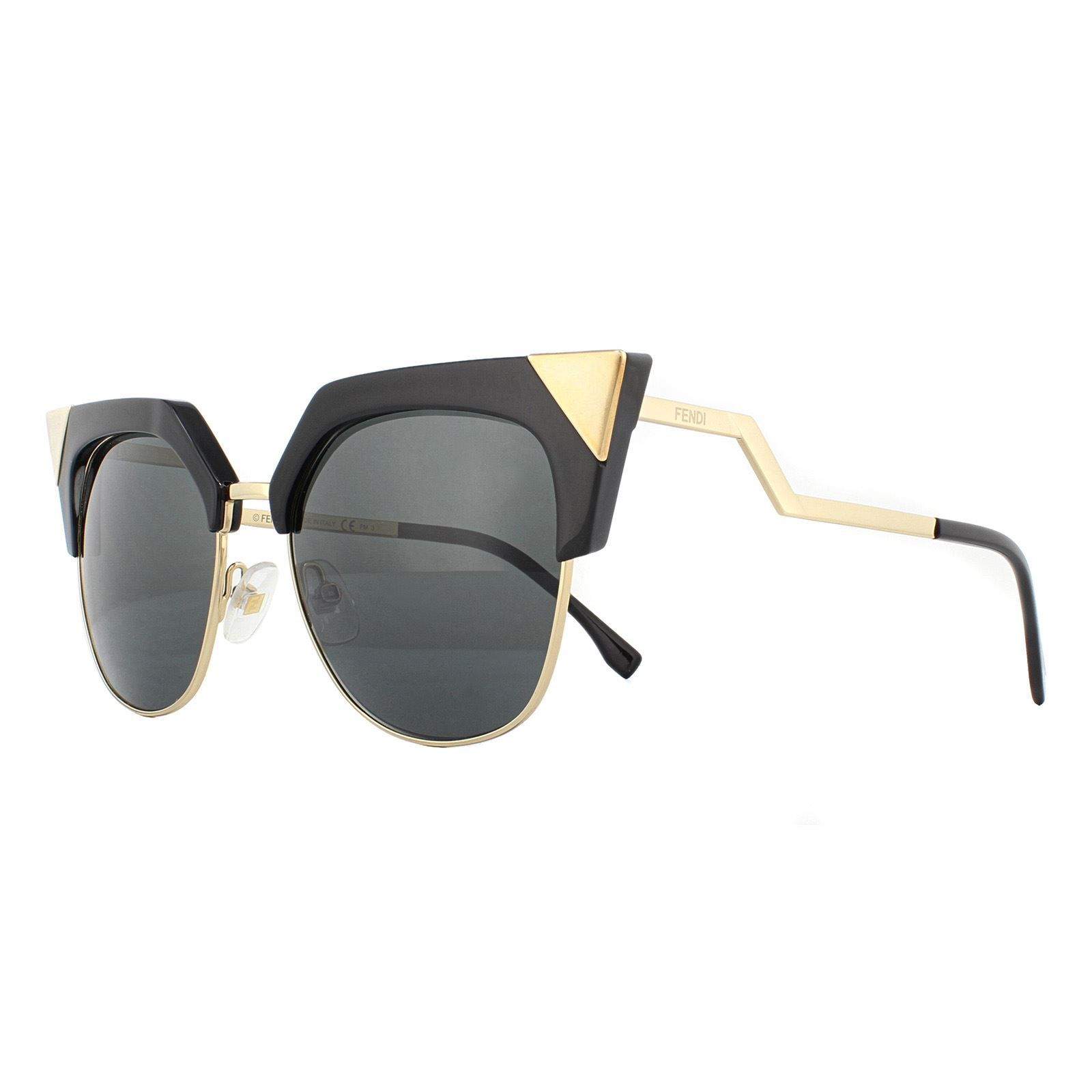 Fendi Sunglasses FF 0149/S REW/P9 Black Gold Grey