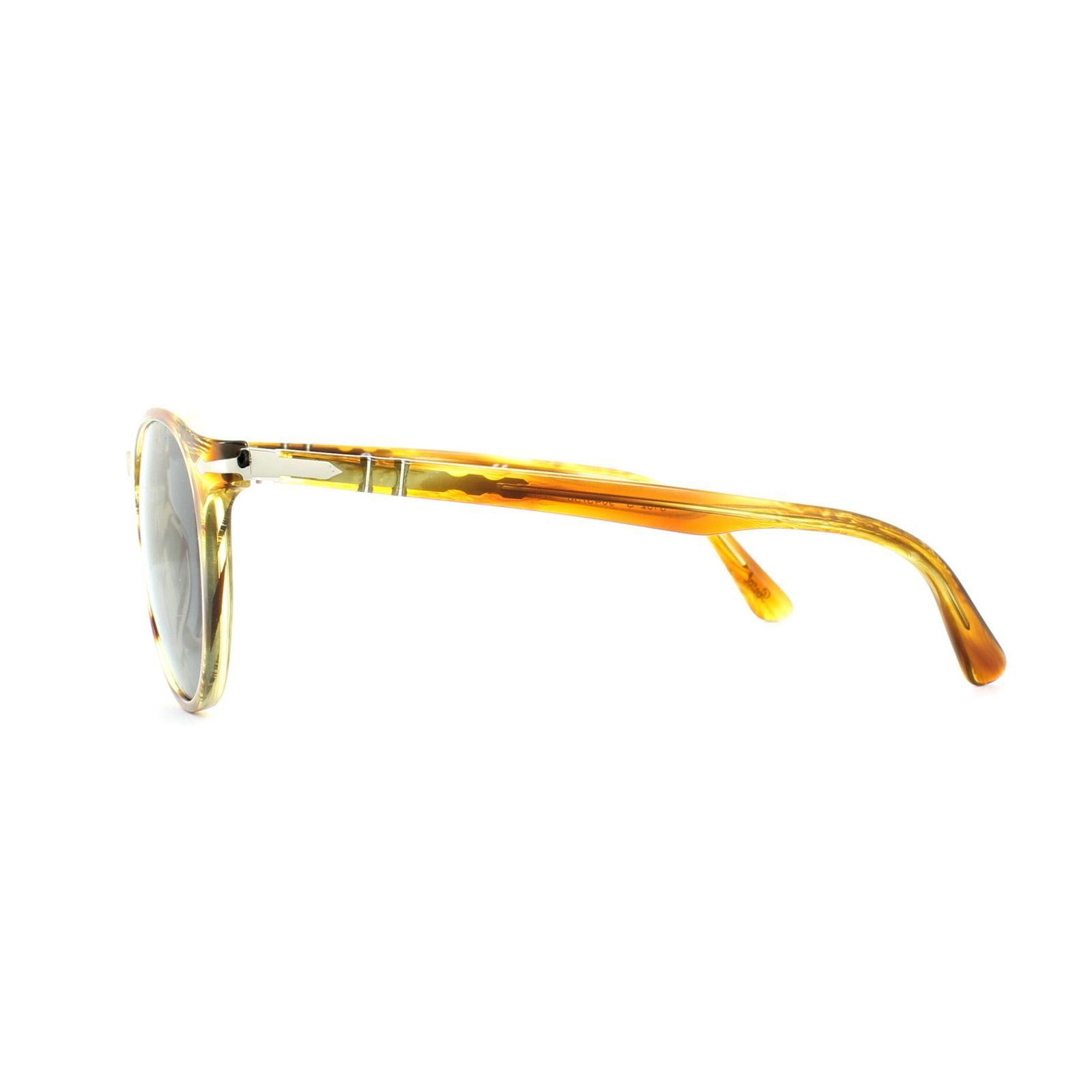 Persol Sunglasses 3152 9043/56 Brown Striped Yellow Blue Anti-Glare