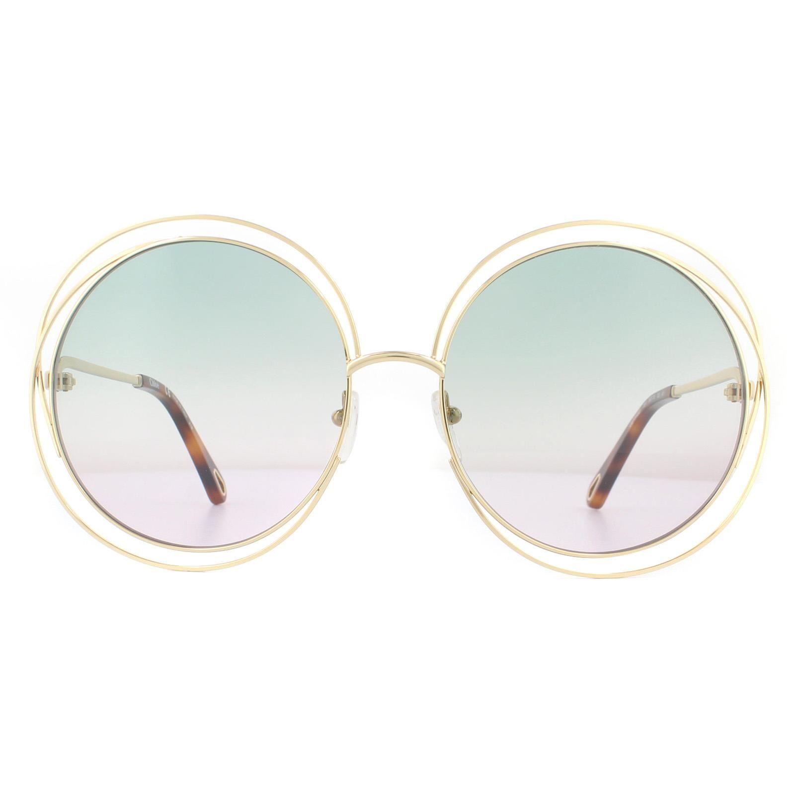 Chloe Sunglasses Carlina CE114SD 751 Gold Havana Green Gradient