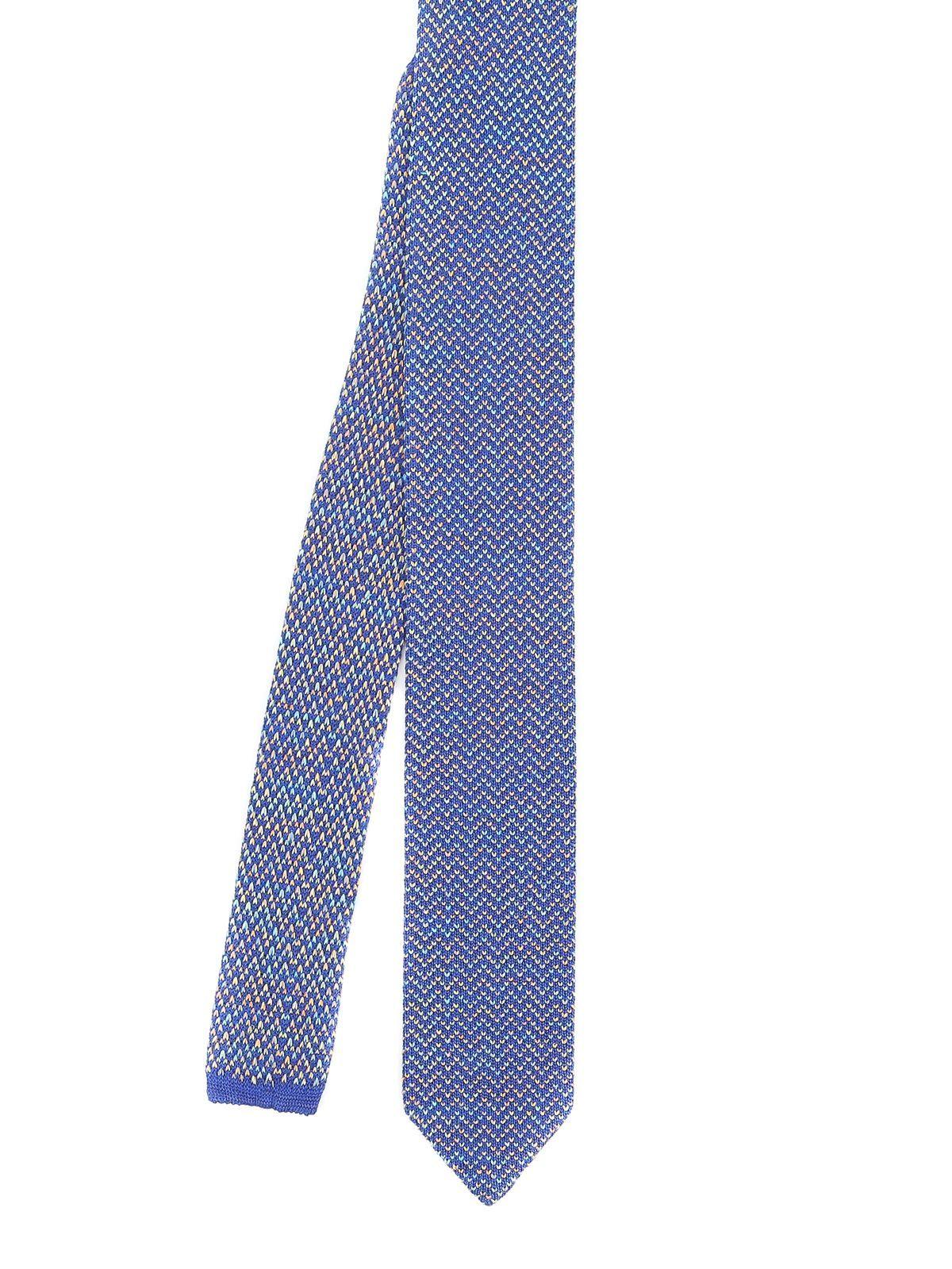 MISSONI MEN'S CR62CMU72932 LIGHT BLUE COTTON TIE
