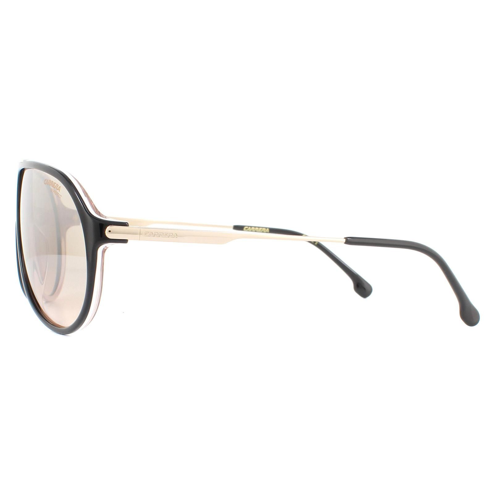 Carrera Sunglasses Hot 65 KDX/G4 Black Nude Brown Mirror
