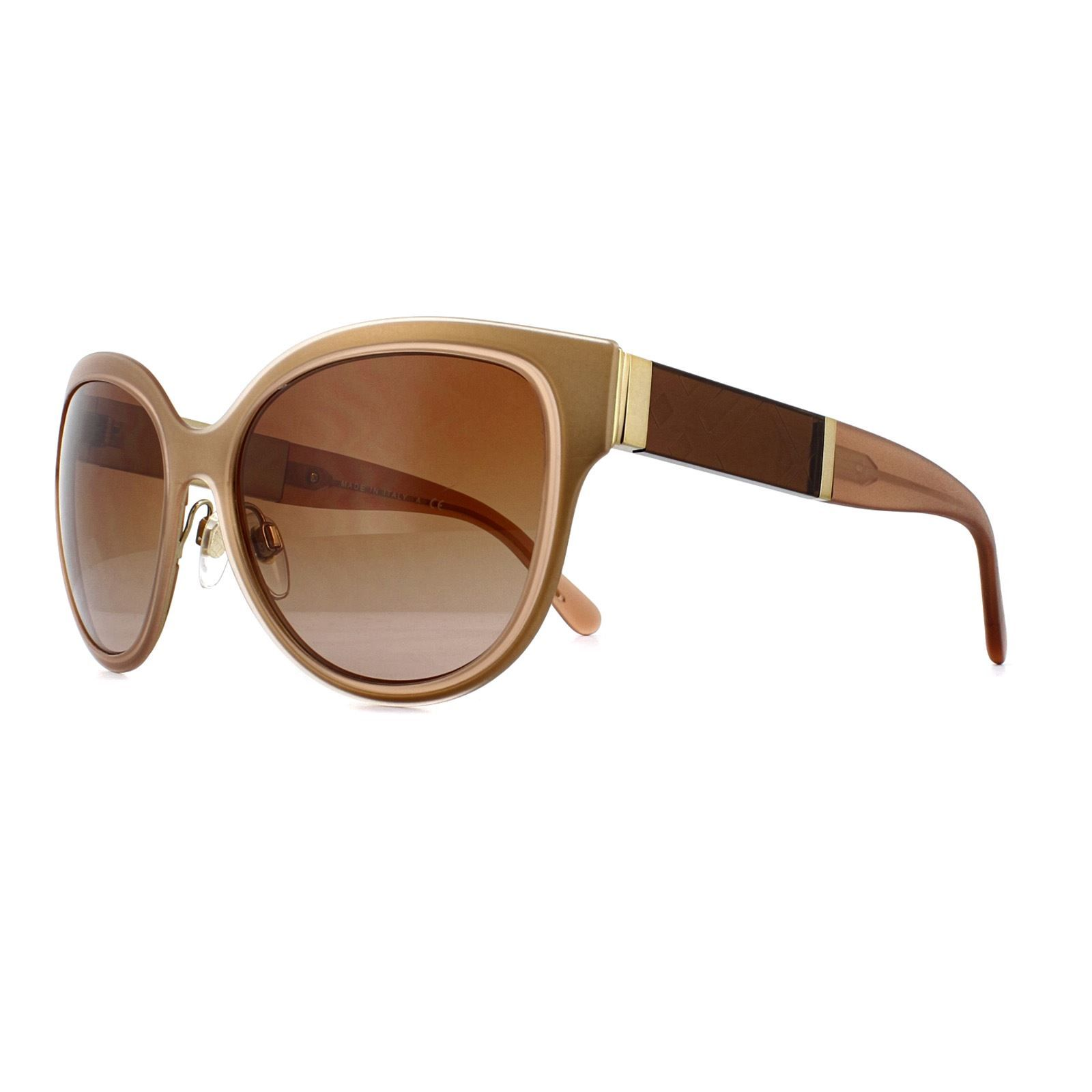 Burberry Sunglasses BE 3087 121813 Light Gold Brown Gradient