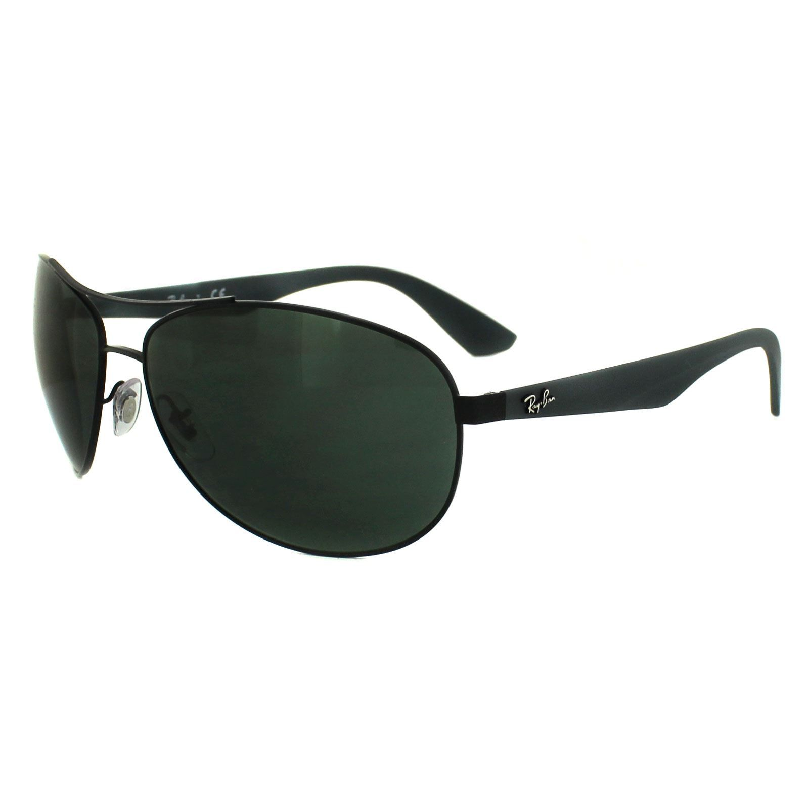 Ray-Ban Sunglasses 3526 006/71 Matt Black Grey Green