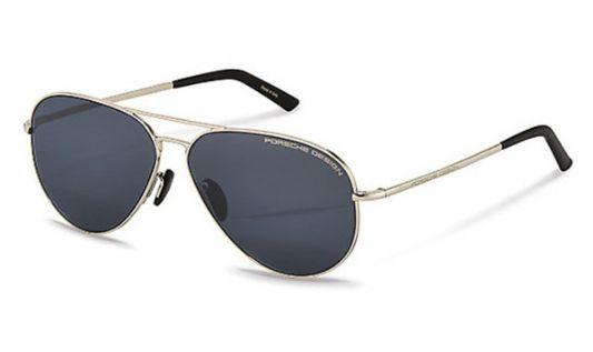 Porsche Avaitor metal Unisex Sunglasses Palladium / Blue
