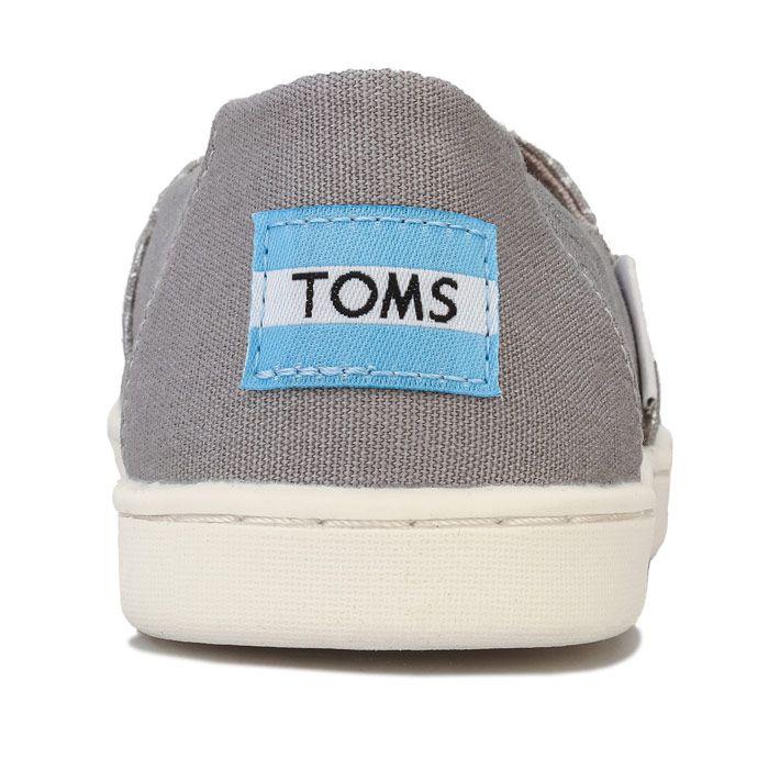Girl's Toms Juniors Foil Peace Pumps in Grey