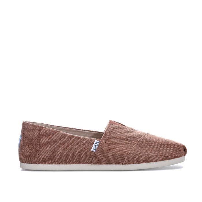 Men's Toms Washed Canvas Espadrille Shoe in Brown