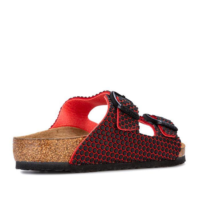 Girl's Birkenstock Children Arizona MF Sandals in red black