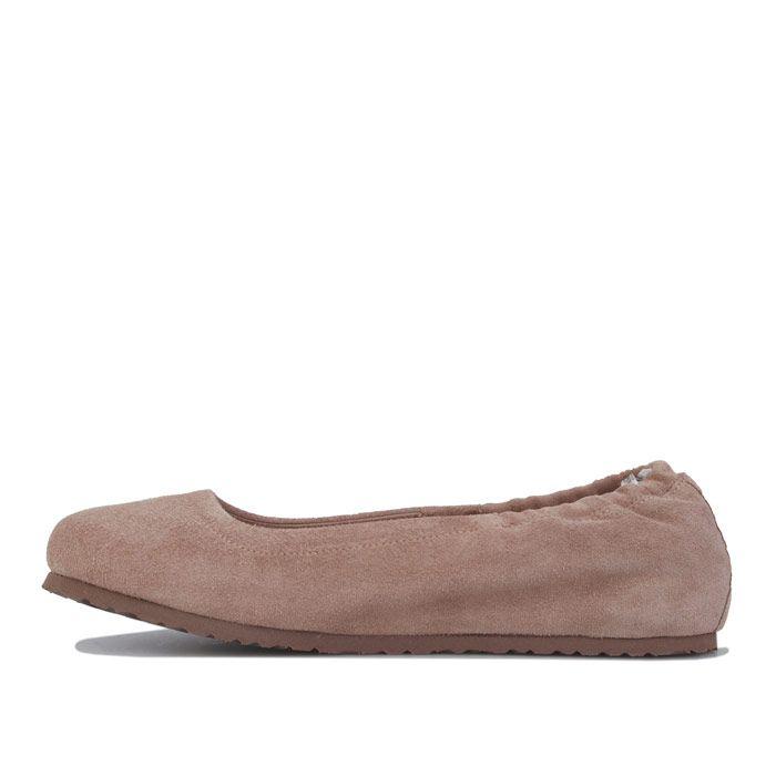 Women's Birkenstock Celina Suede Ballerina Shoes Narrow in Taupe