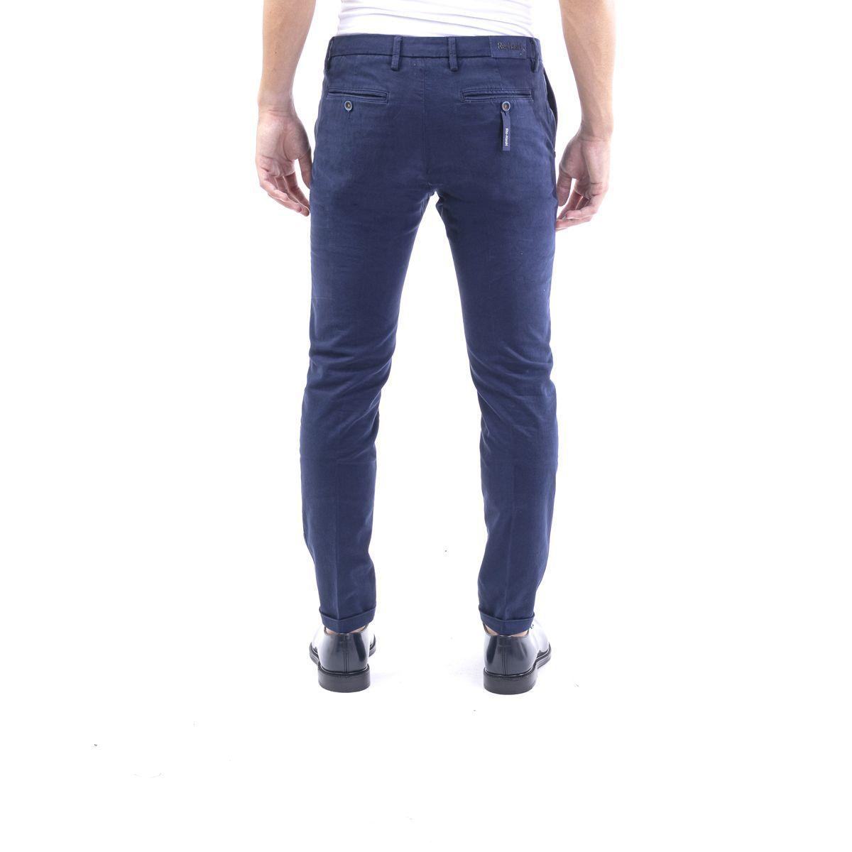 RE-HASH MEN'S P24920764002 BLUE COTTON PANTS